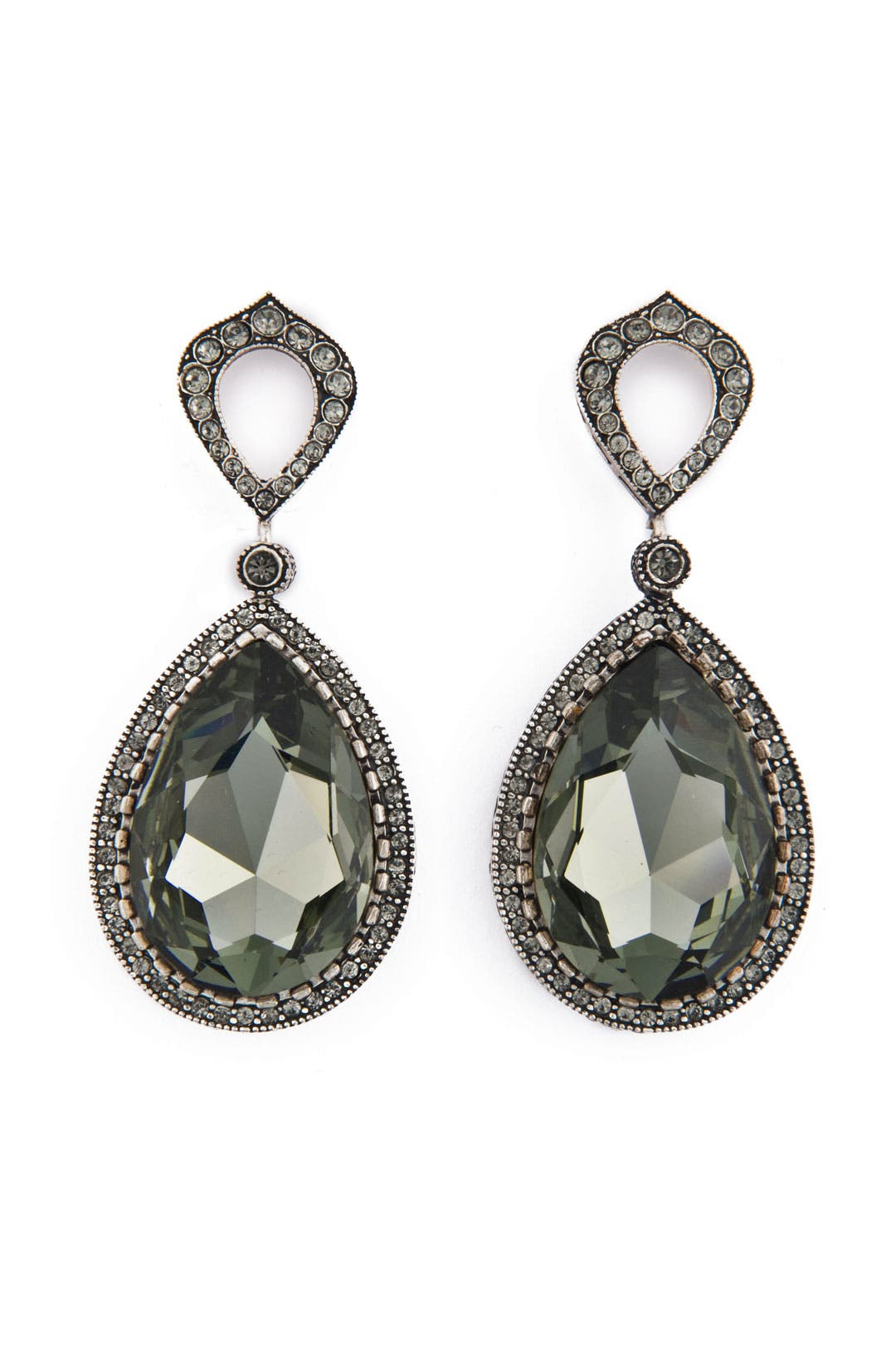 Smokey Drop Earrings by Azaara