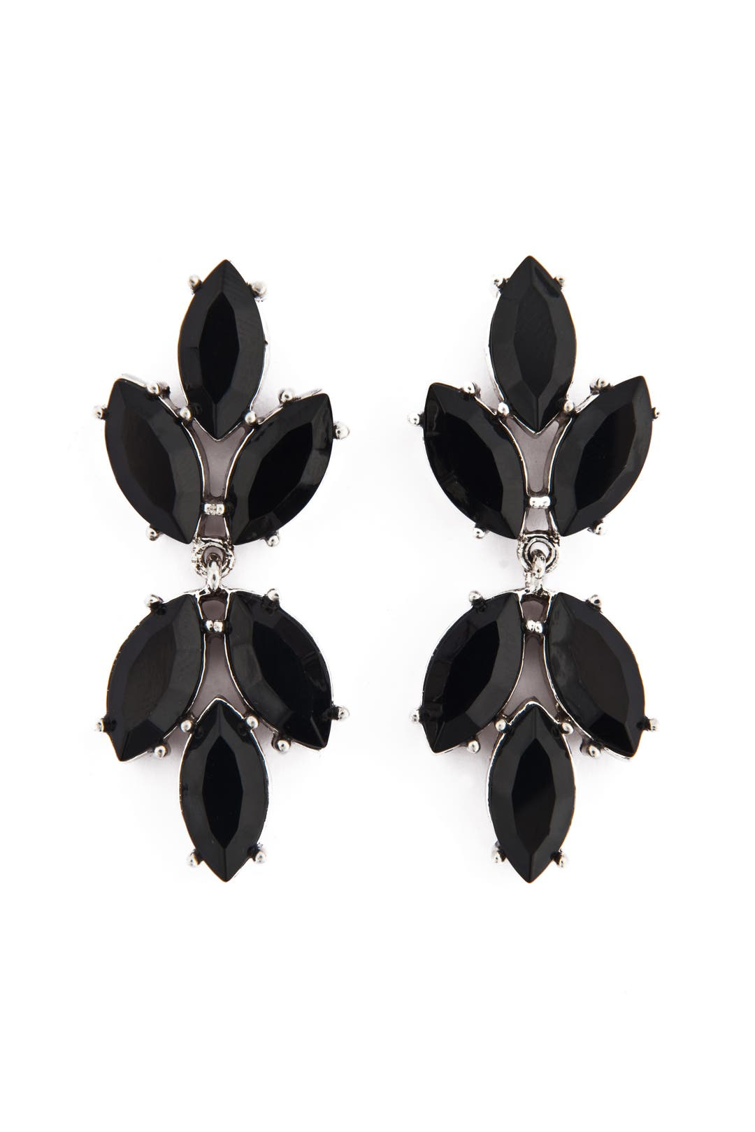 Black Spade Earrings by Badgley Mischka Jewelry