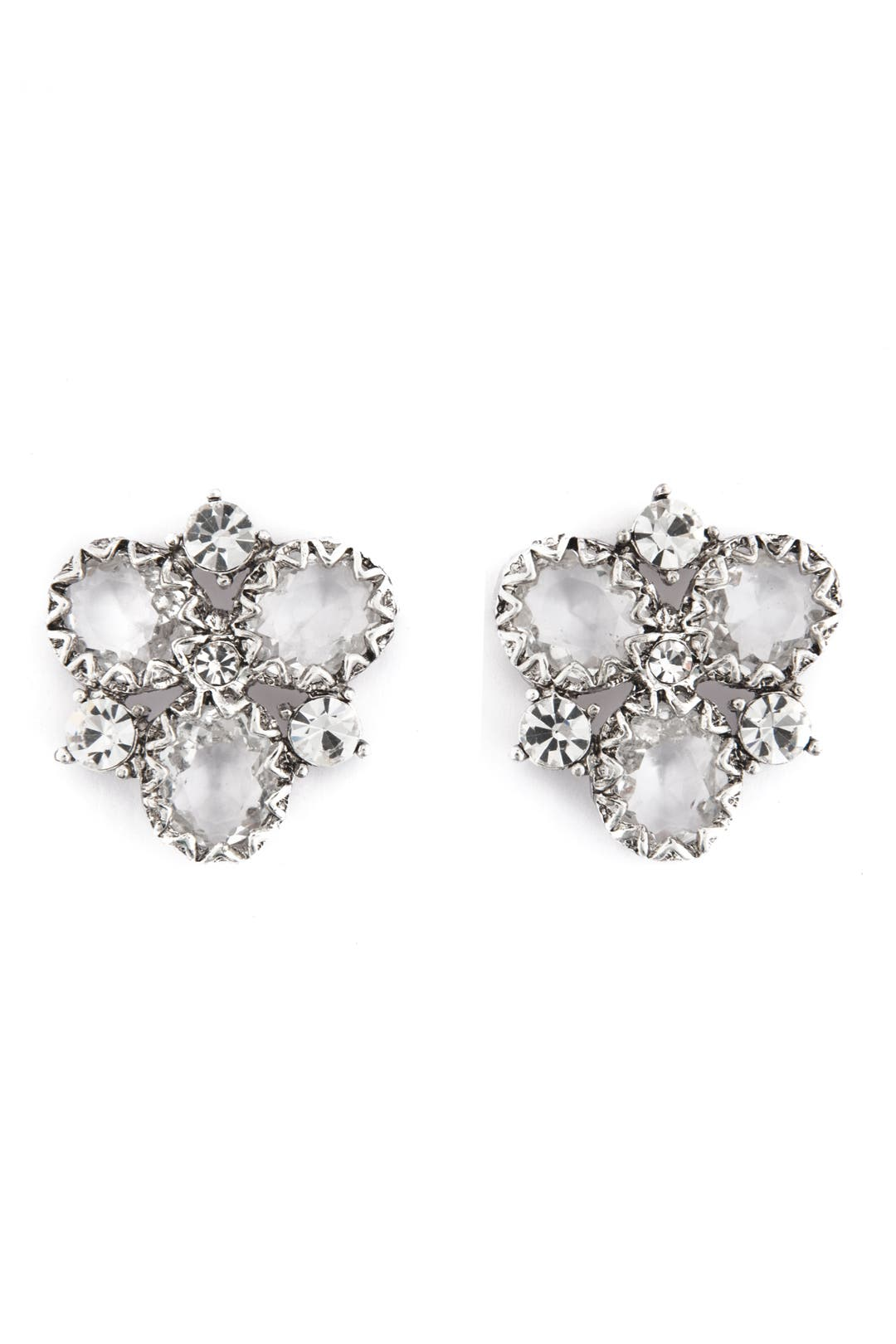 Crystal Cluster Earrings by Badgley Mischka Jewelry