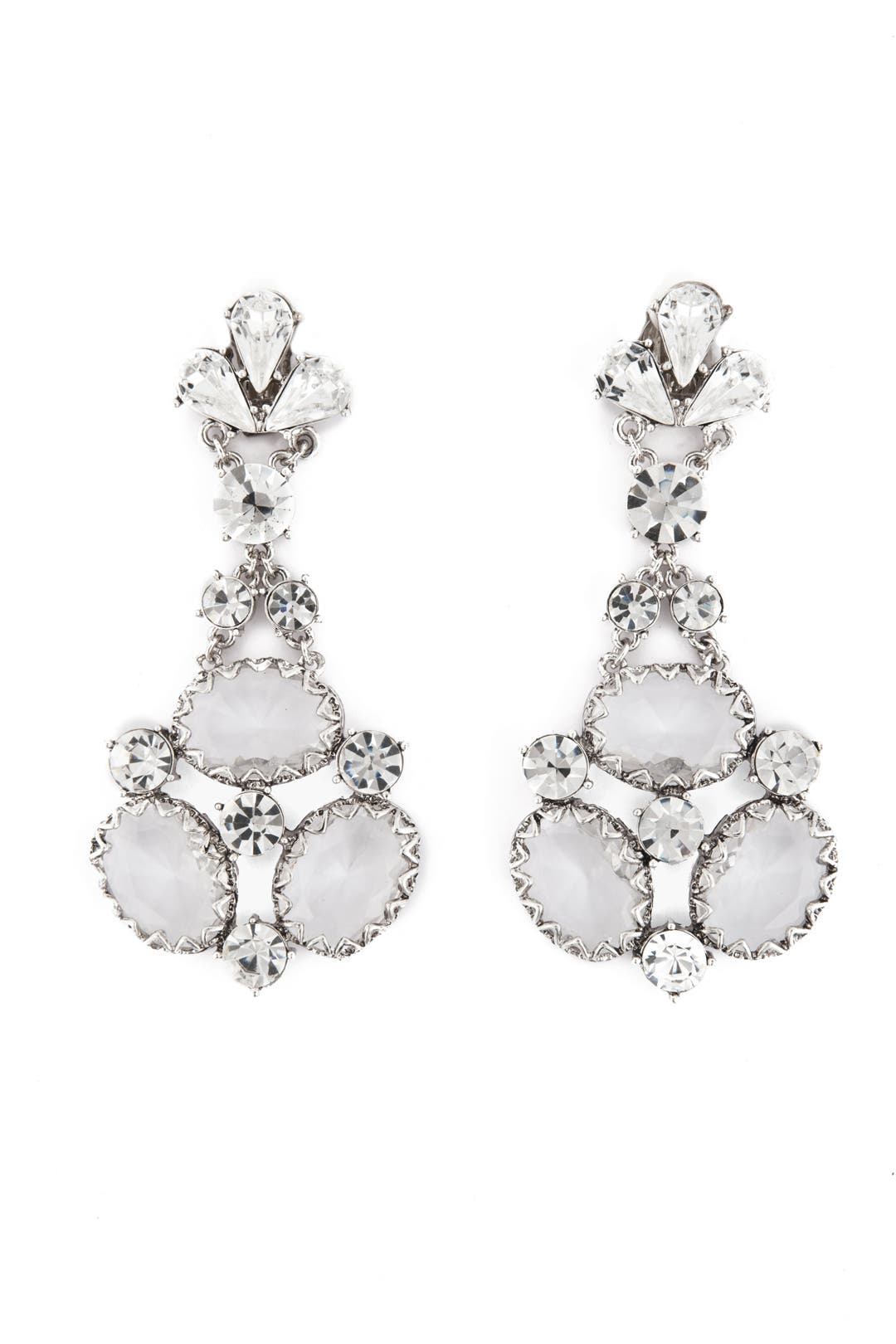 Crystal Heaven Drop Earrings by Badgley Mischka Jewelry