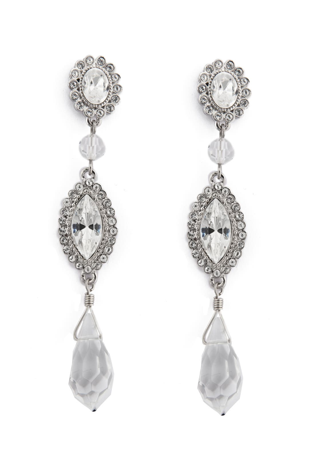 Marry Me Crystal Drop Earrings by Badgley Mischka Jewelry