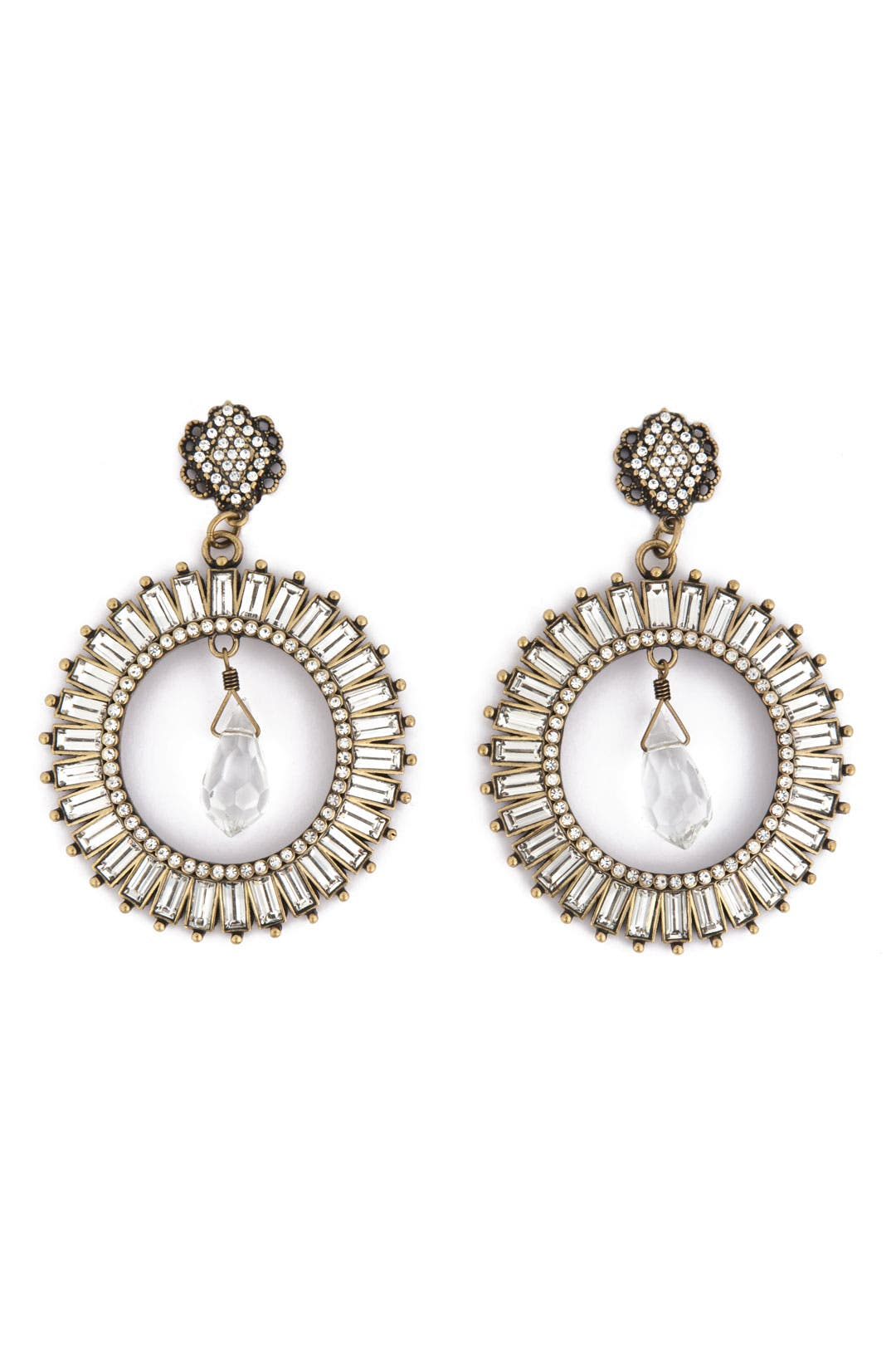 Radiant Crystal Crown Earrings by Badgley Mischka Jewelry