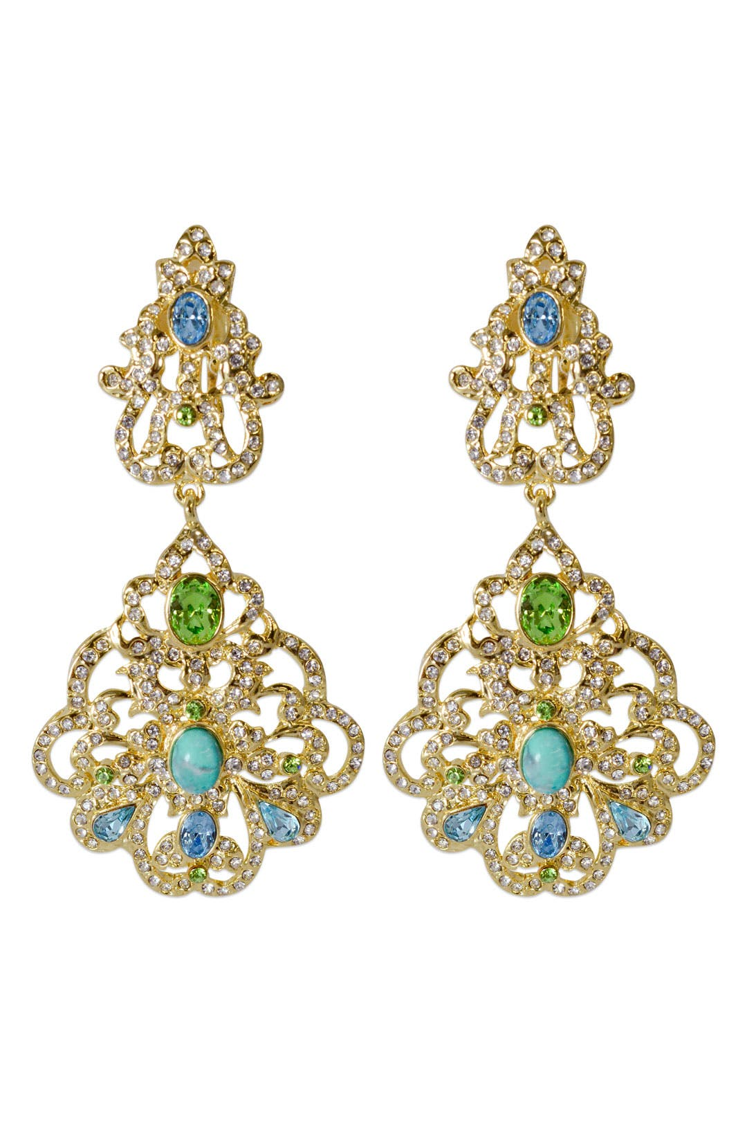 Rococo Filigree Earrings by Badgley Mischka Jewelry
