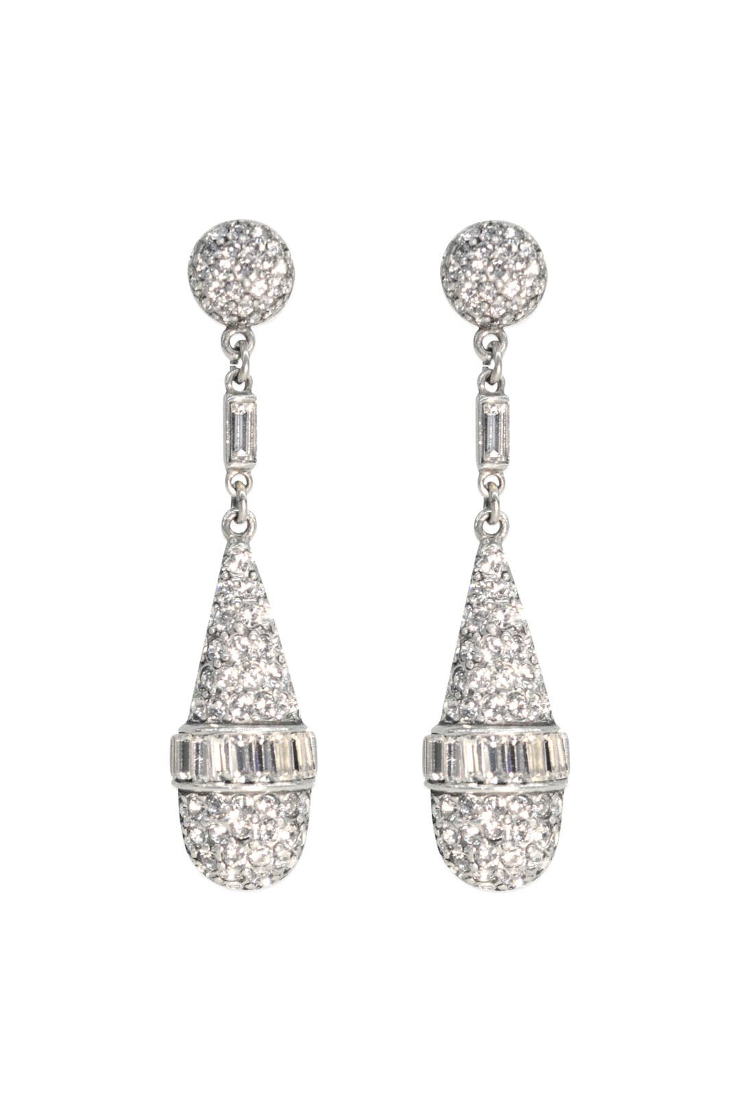 Deco Crystal Teardrops by Ben-Amun