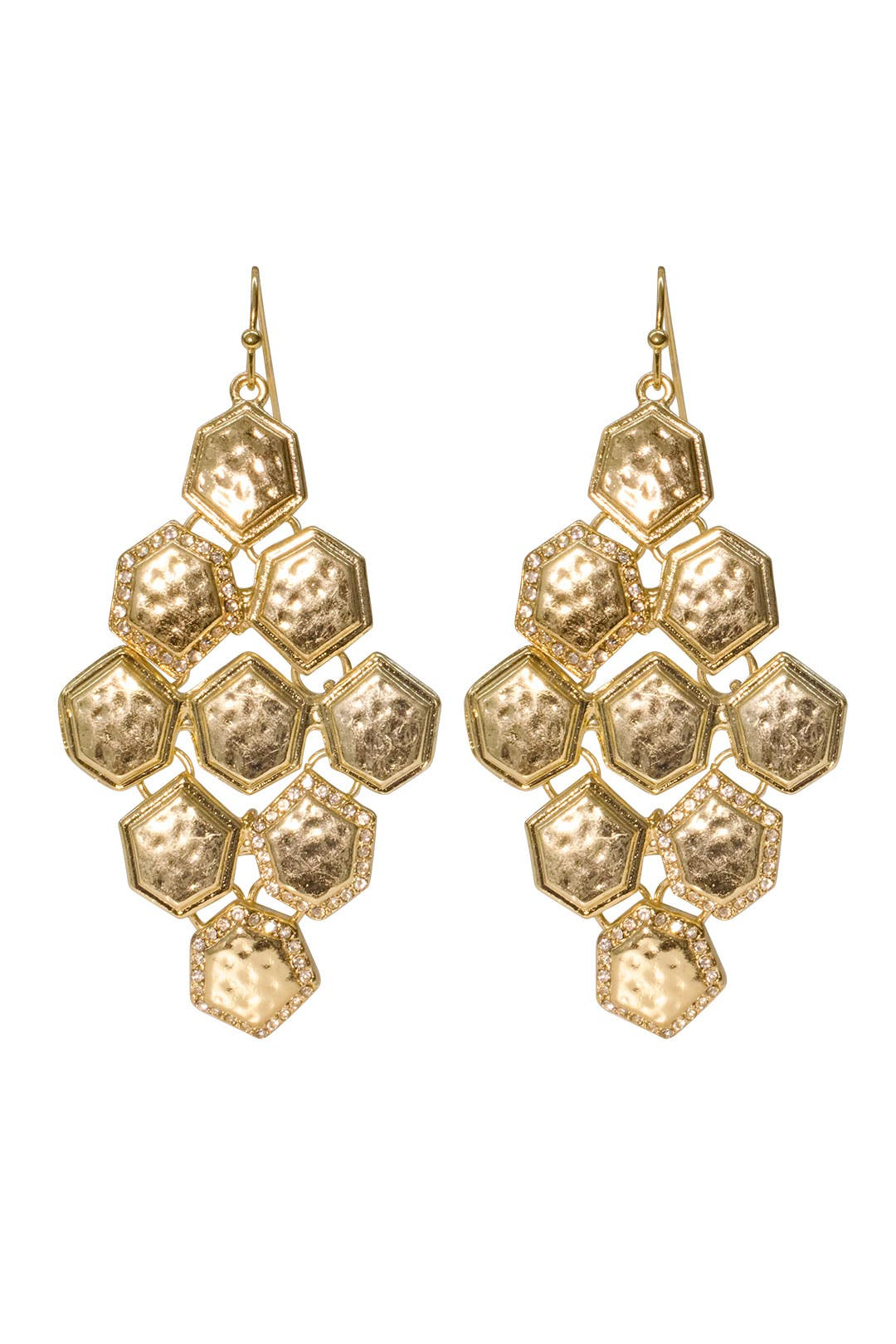 Honeycomb Chandelier Earrings by Cara Accessories