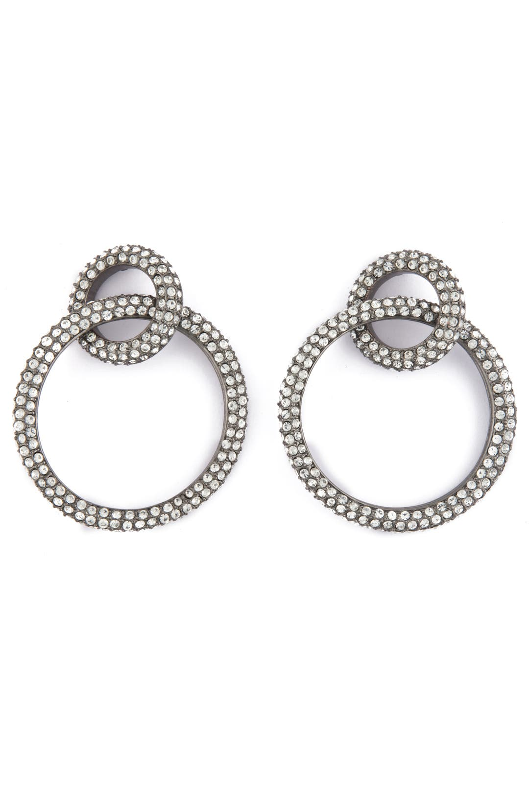Pave Double Hoop Earrings by CC Skye