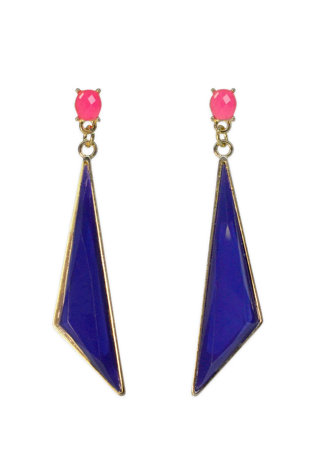 Pink & Blue Geo Drops by Cinder & Charm