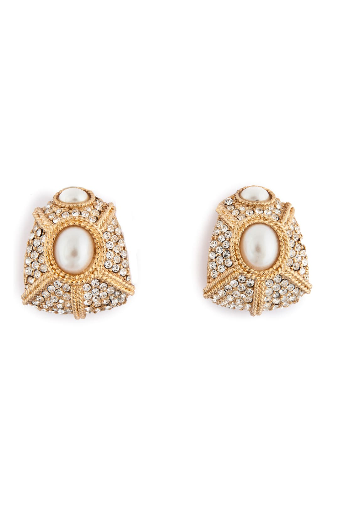 Old Hollywood Glamour Earrings by Ciner