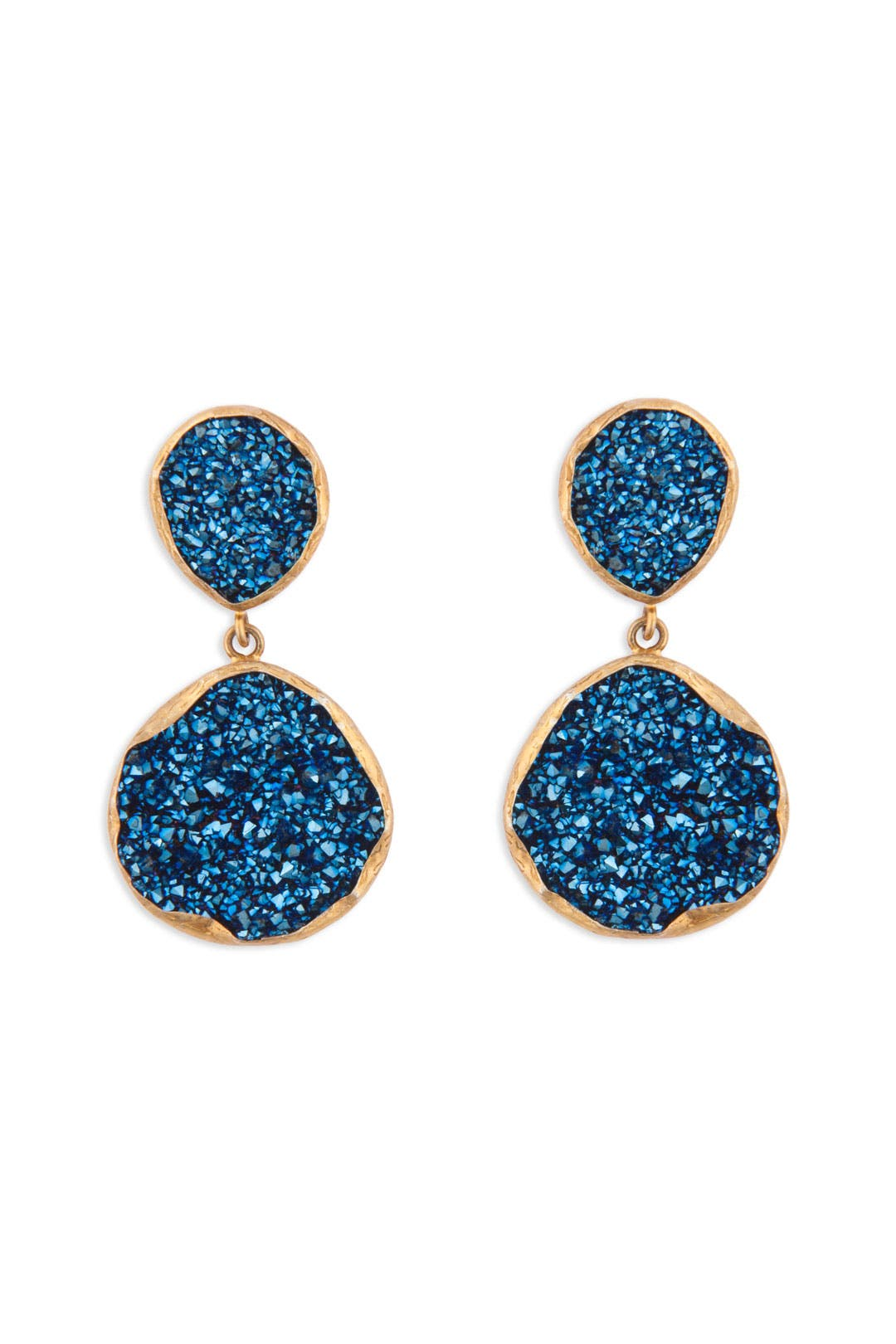 Sapphire Druzy Earrings by Coralia Leets