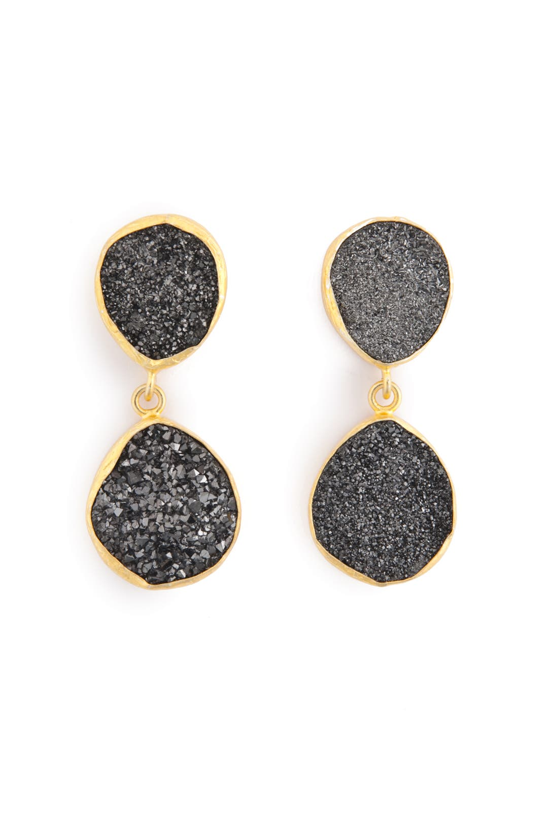 Smokey Droplet Earrings by Coralia Leets