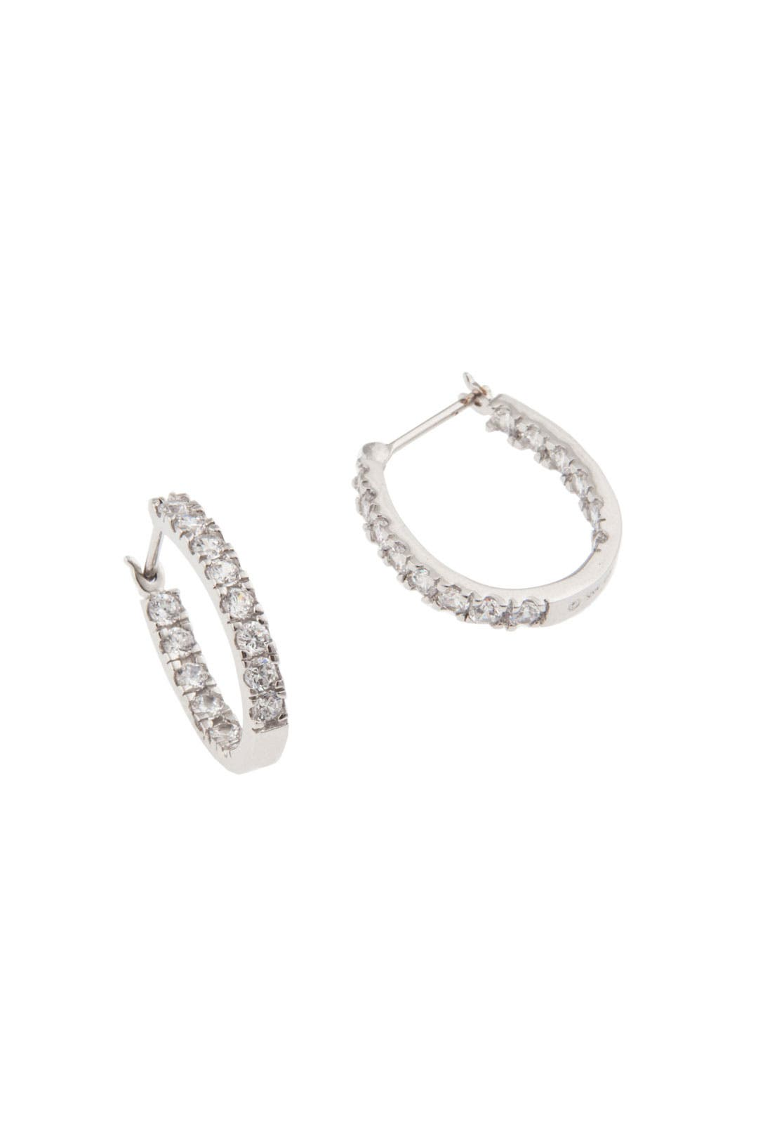 Crystal Hoop Love Earrings by Crislu