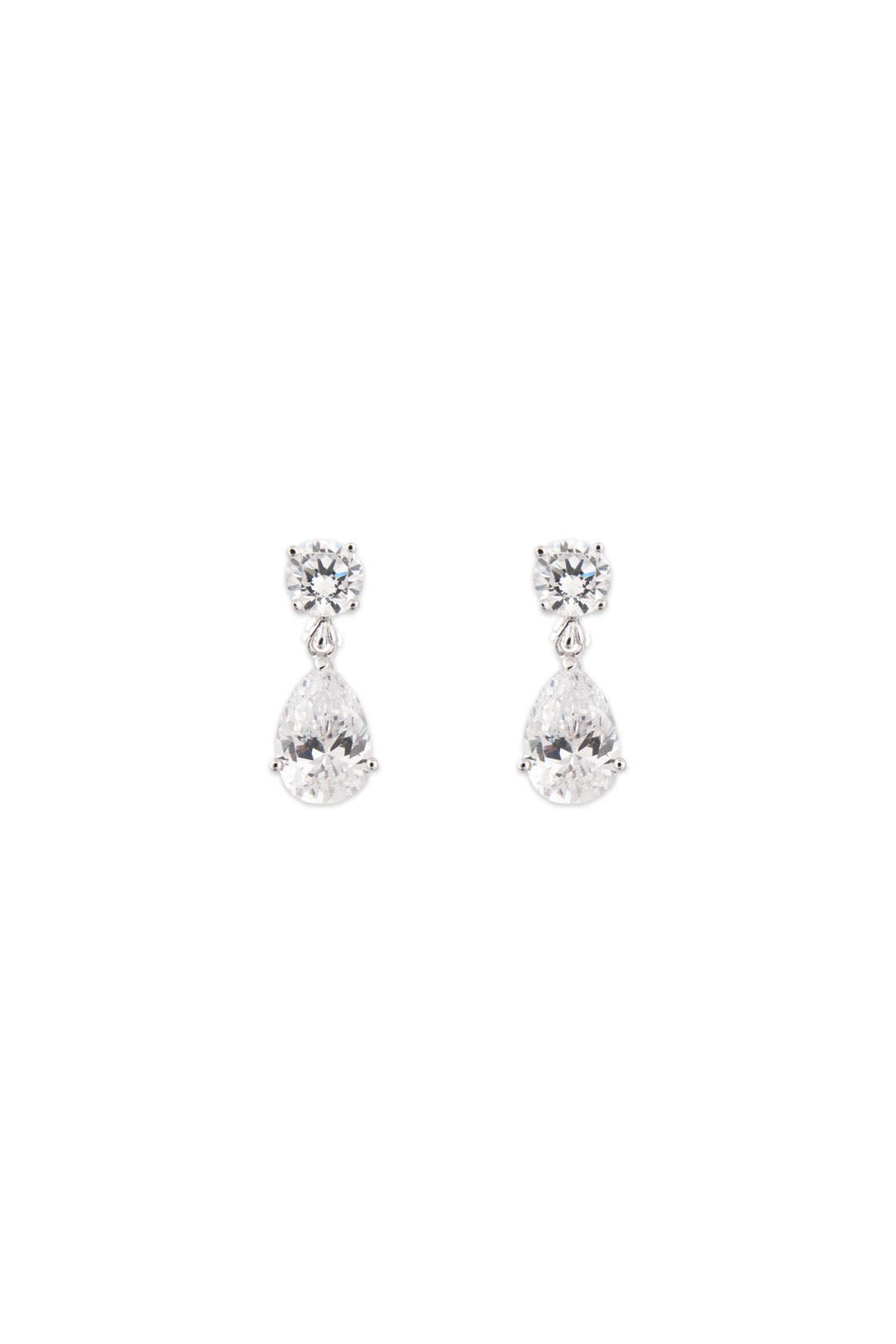 Petite Crystal Tear Earrings by Crislu