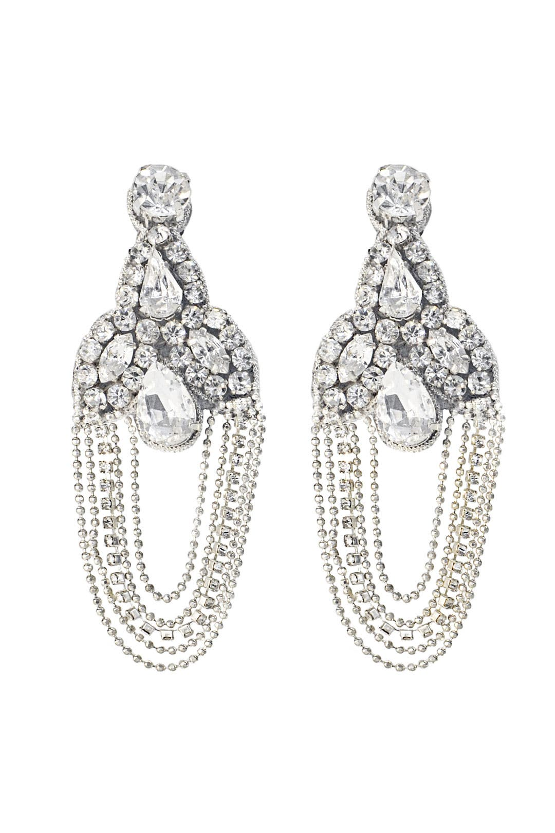 Crystal Palace Chandelier Earrings by Deepa Gurnani
