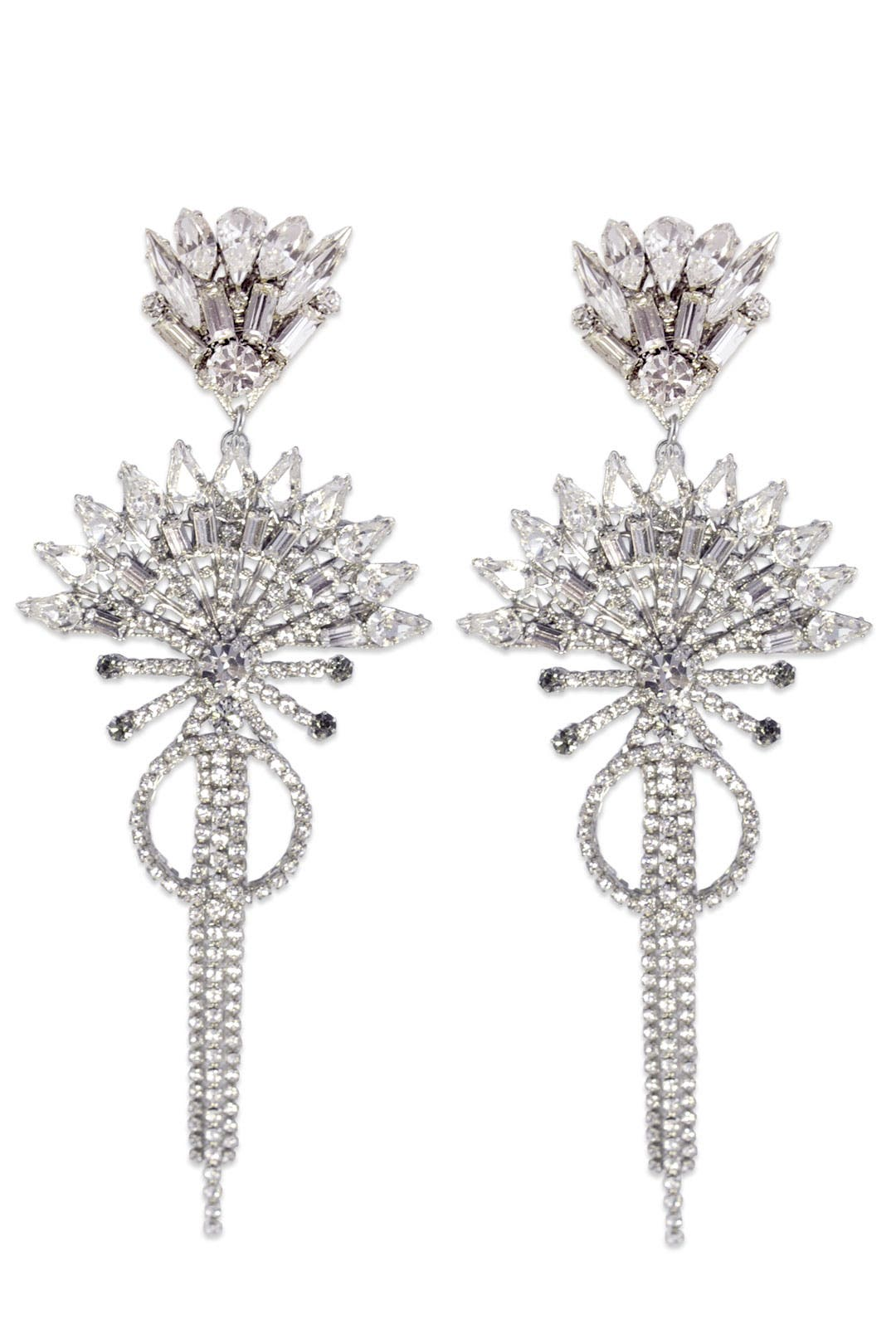 China Club Crystal Earrings by Erickson Beamon
