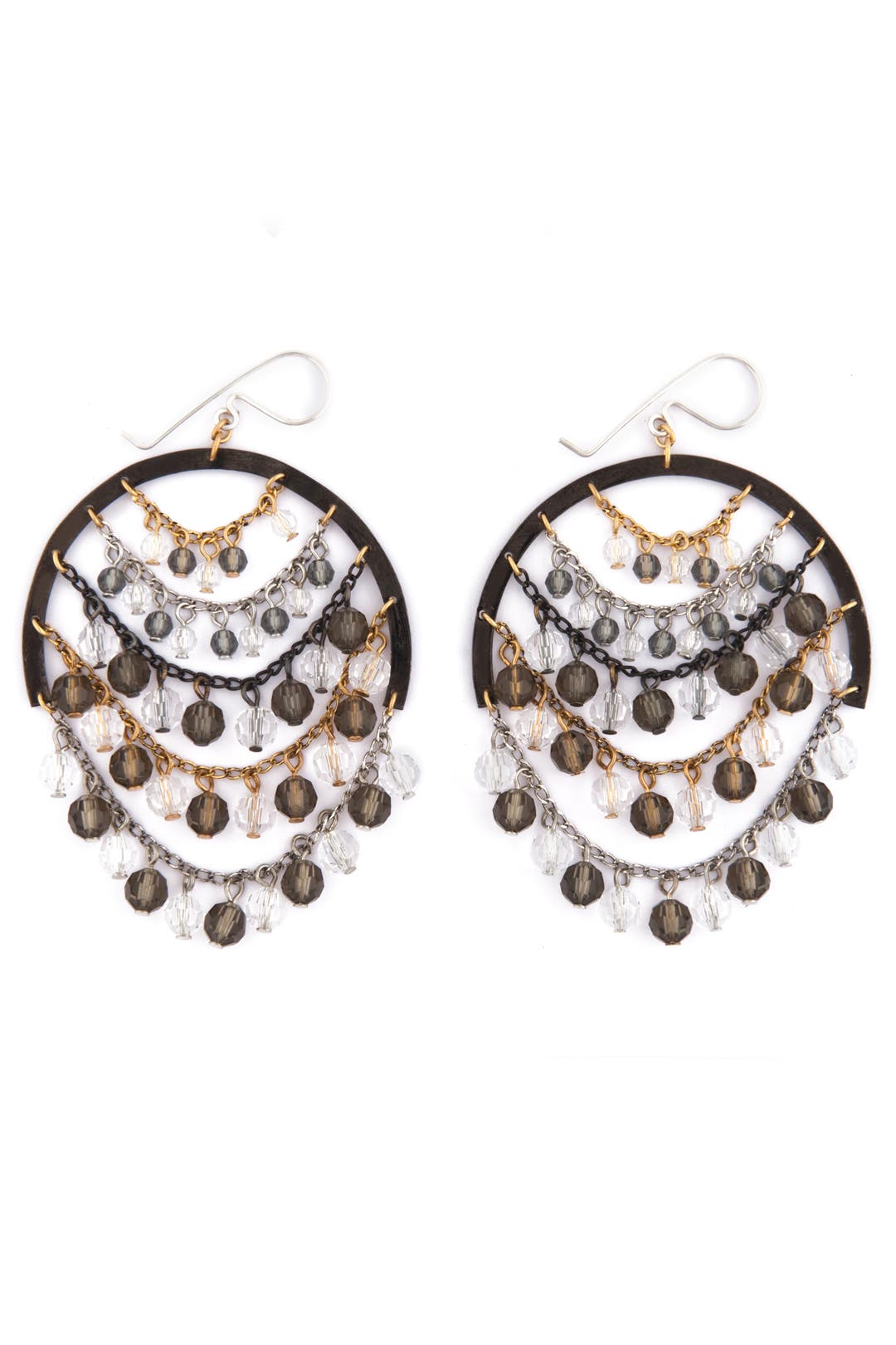 Crystal Chandelier Earrings by Erickson Beamon