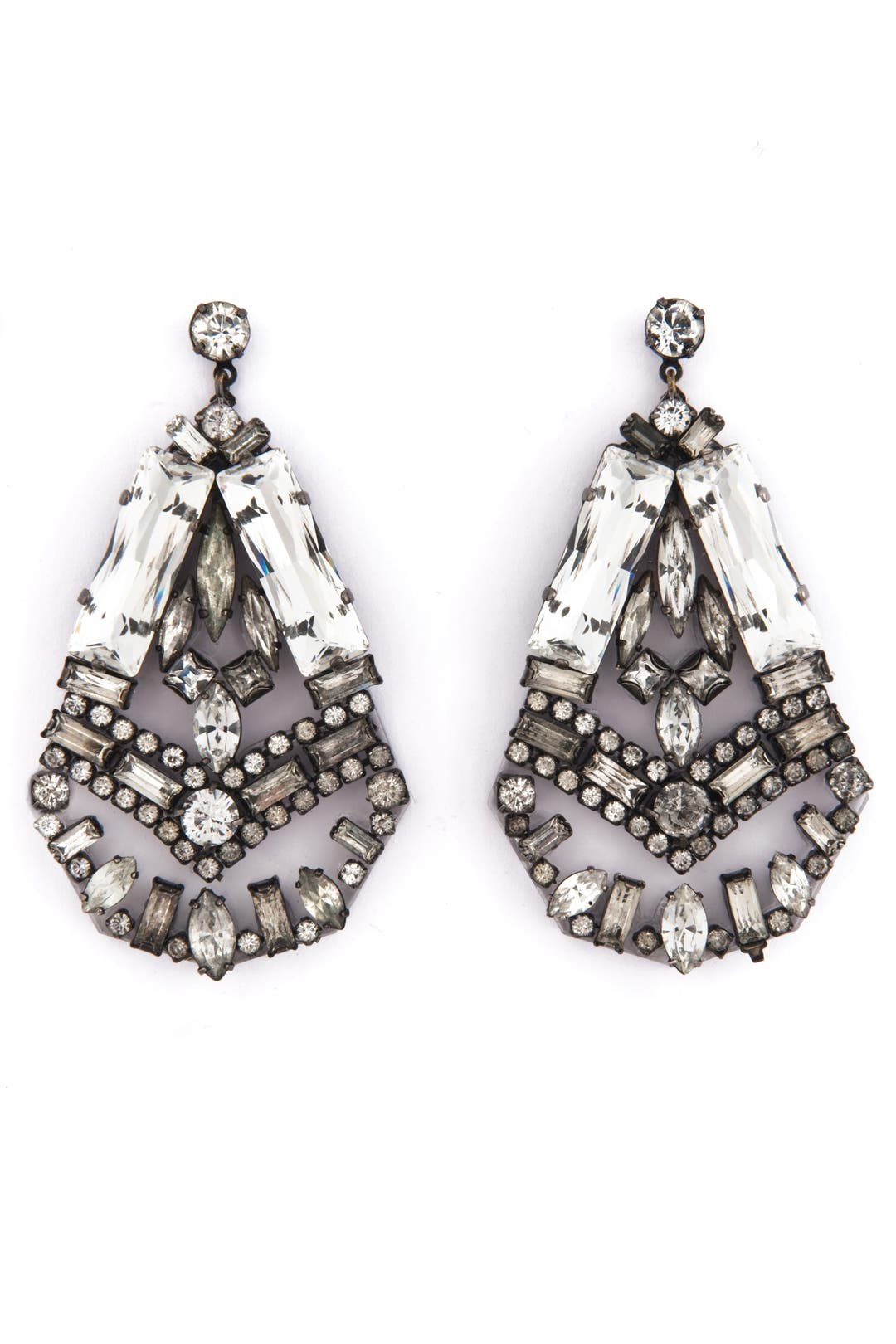 Heart of Glass Earrings by Erickson Beamon