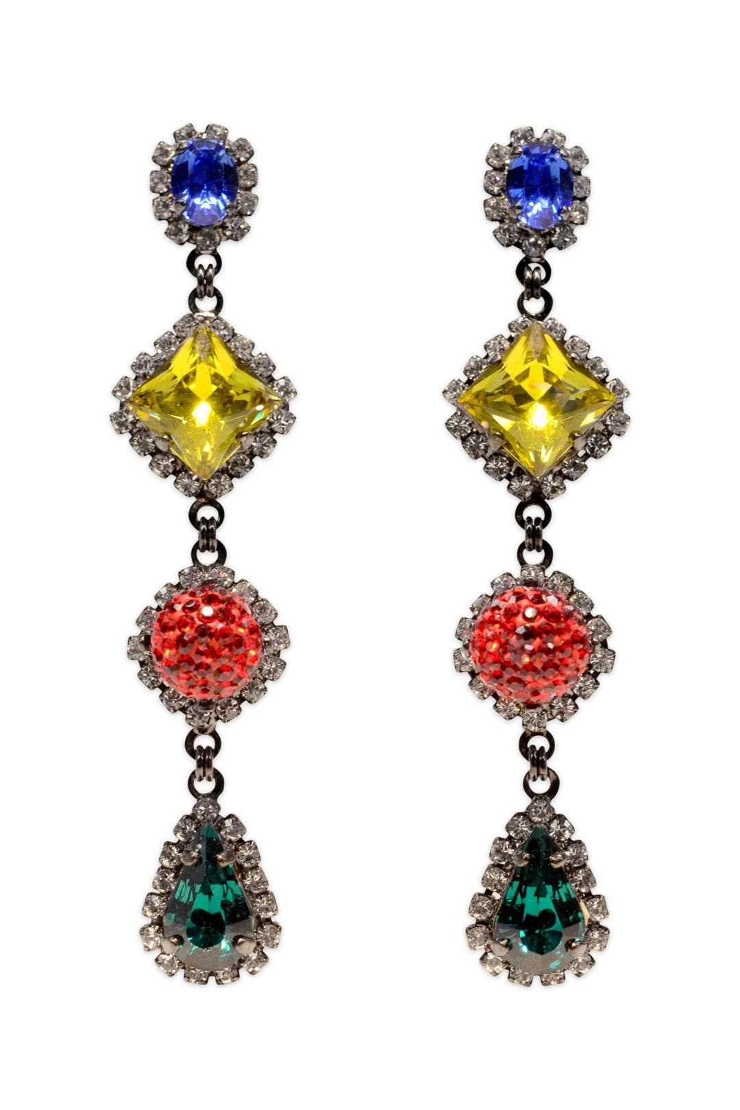 Stop and Go Earrings by Erickson Beamon