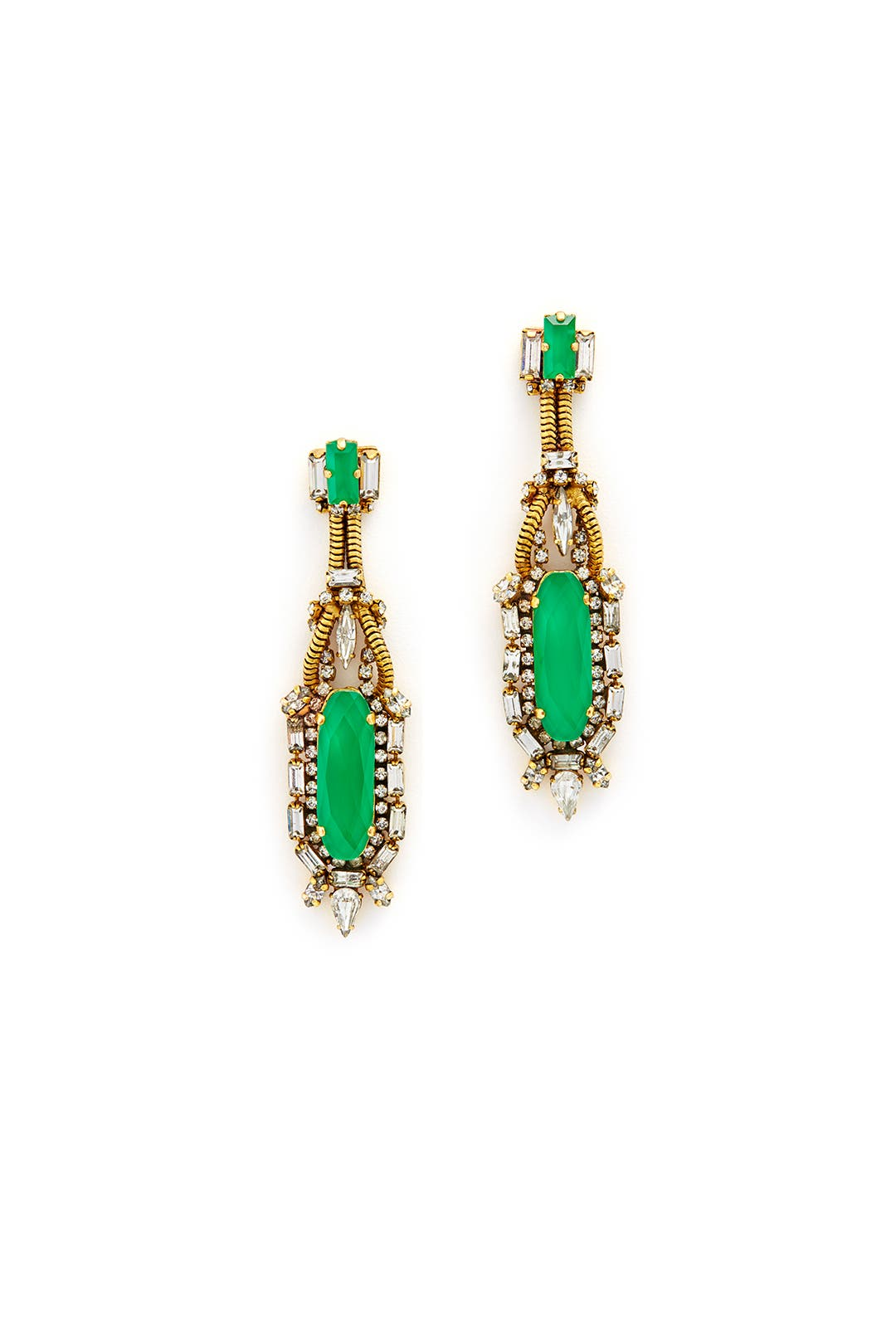 Yours to Keep Emerald Earrings by Erickson Beamon