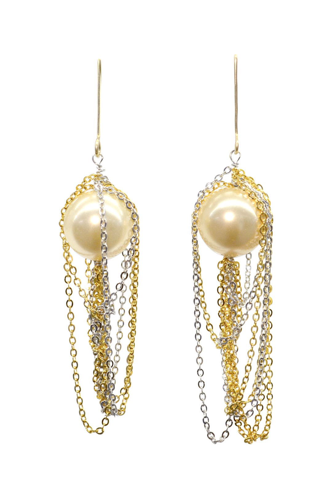 White Pearl Waterfall Earring by Gemma Redux