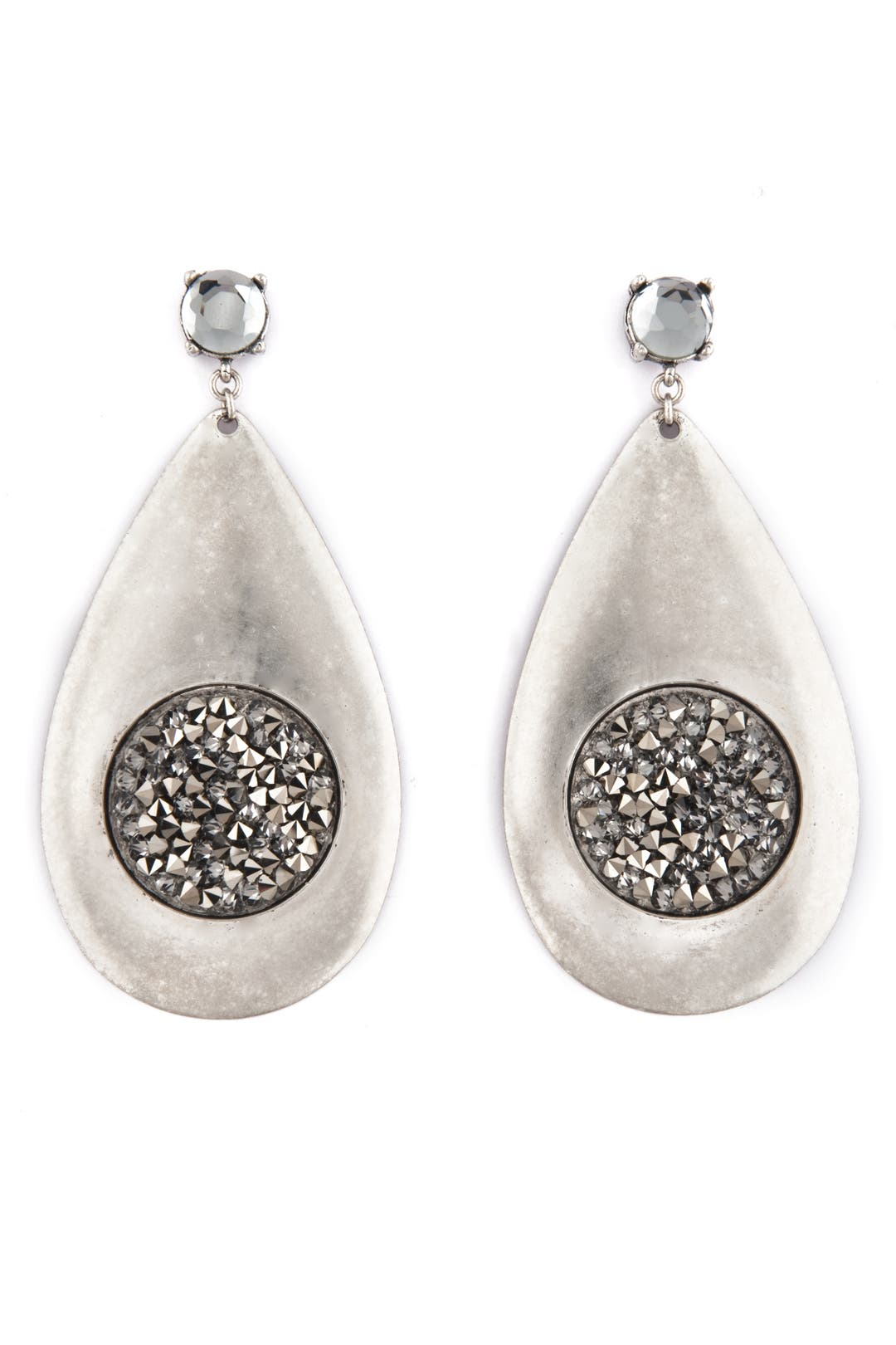 Silver Moondrop Earrings by Gerard Yosca