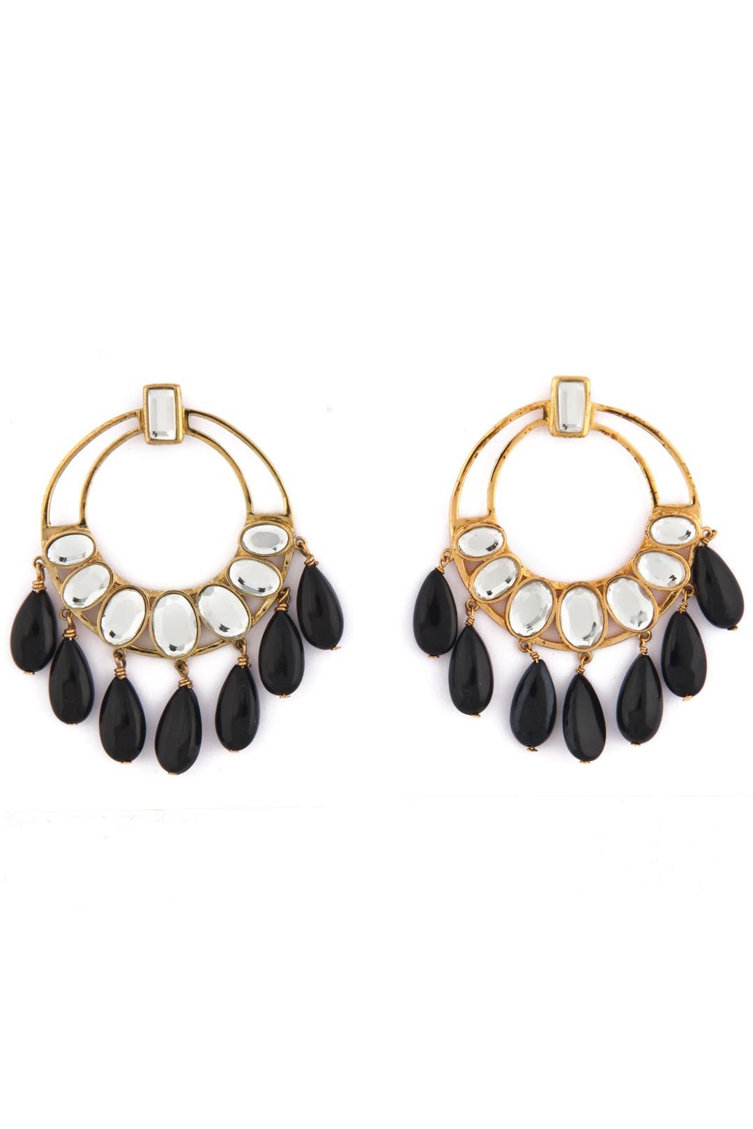 Polki Mirror Earrings by Isharya