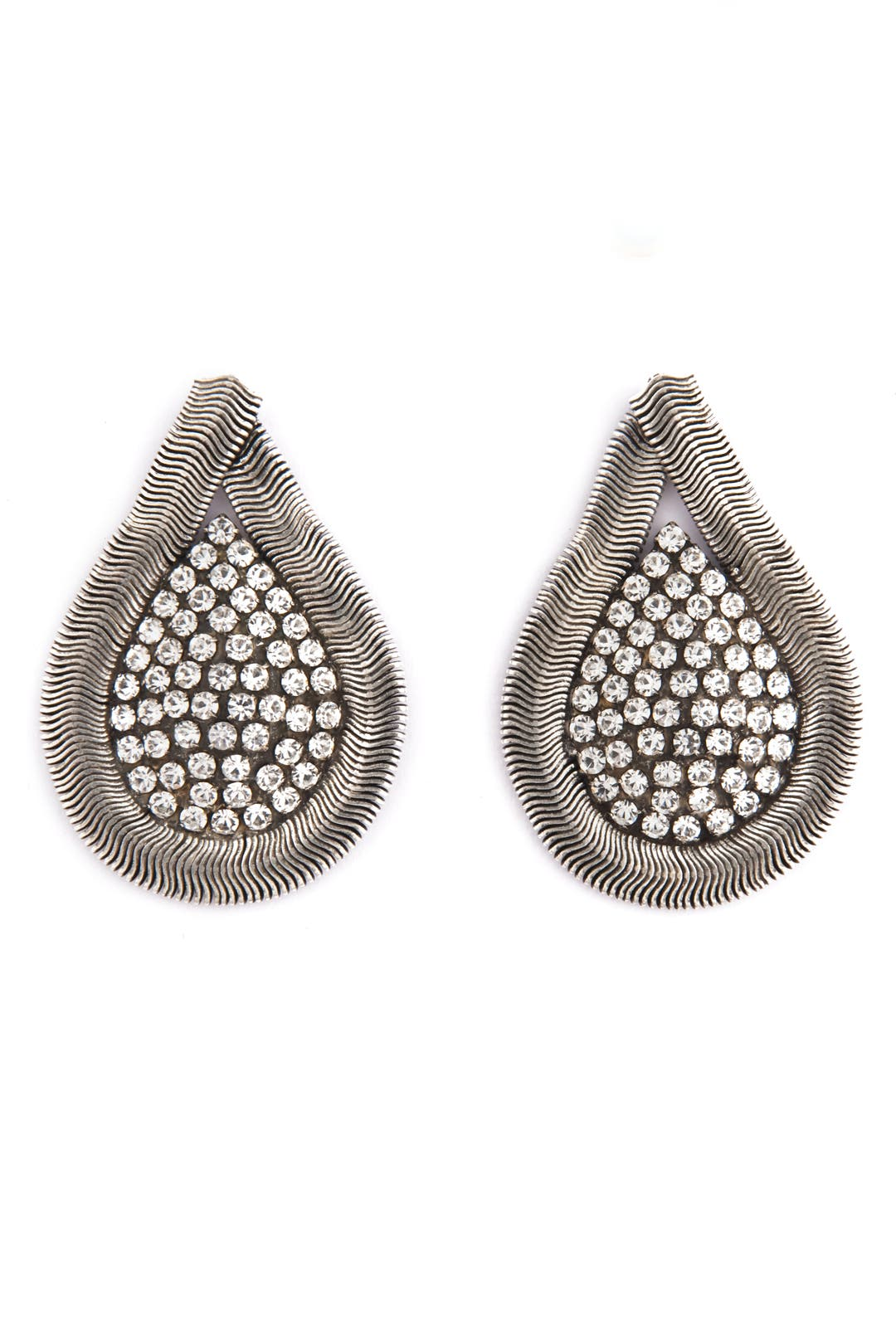 Snake Chain Teardrop Earrings by Janis Savitt