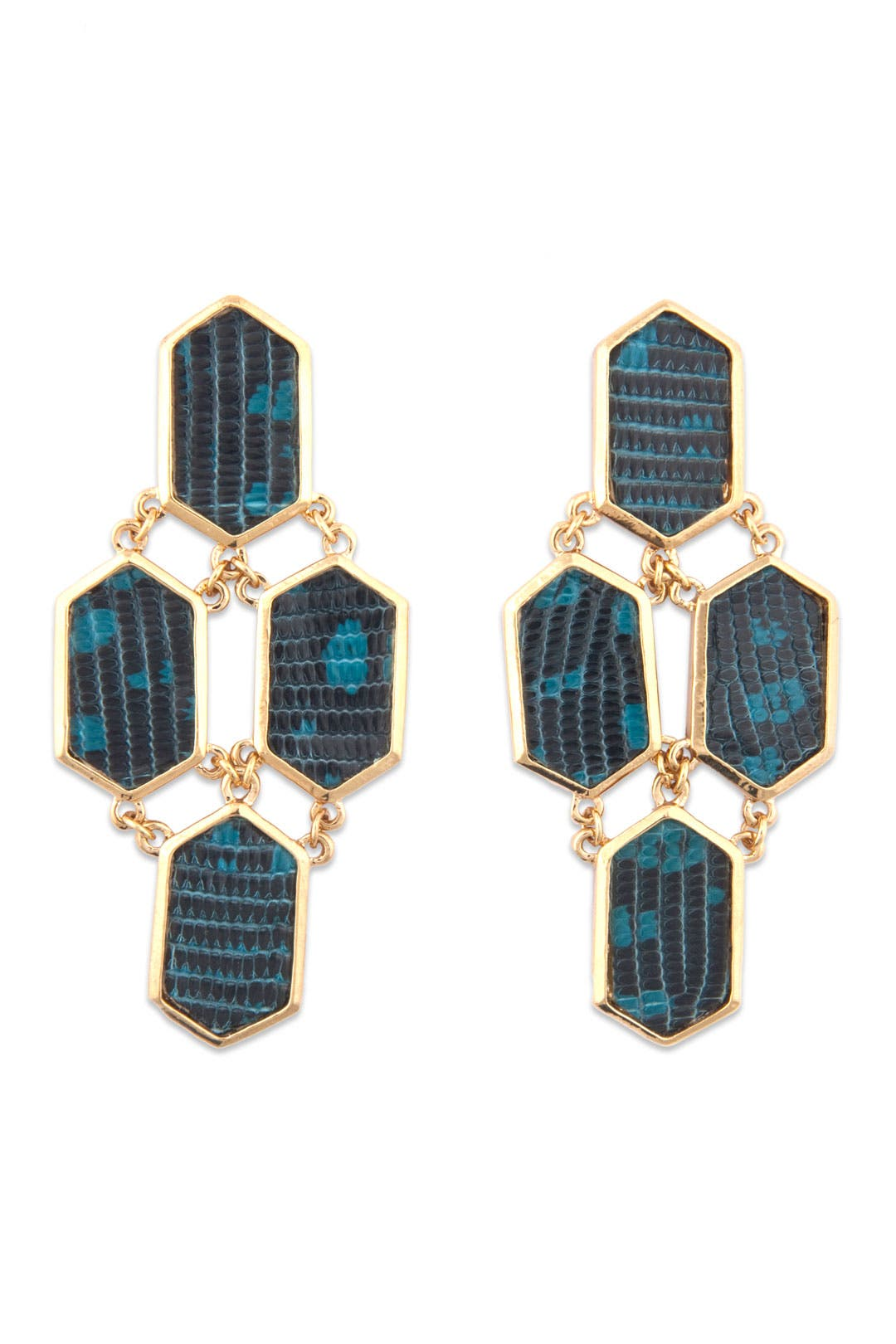 Blue Python Earrings by Kara Ross
