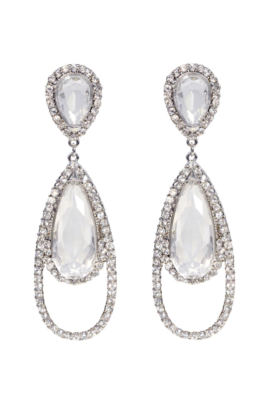 Haute Couture Crystal Earrings by Kenneth Jay Lane
