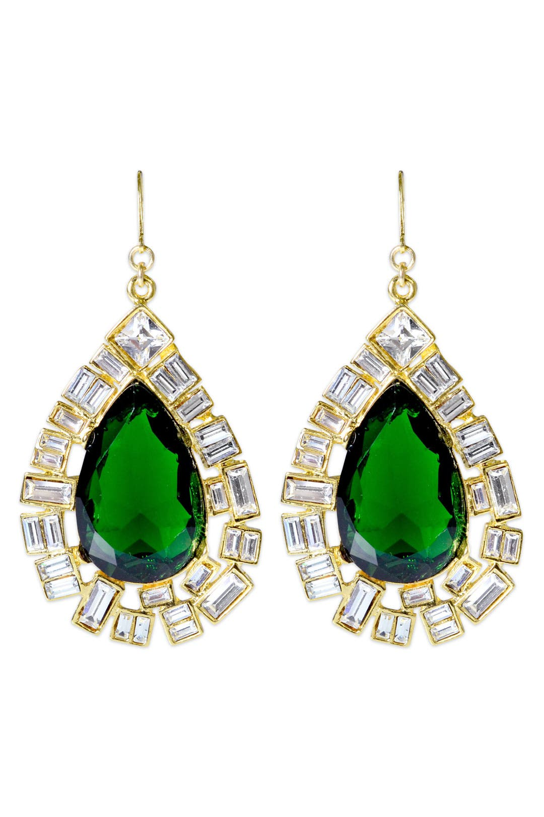 Iconic Emerald Drops by Kenneth Jay Lane