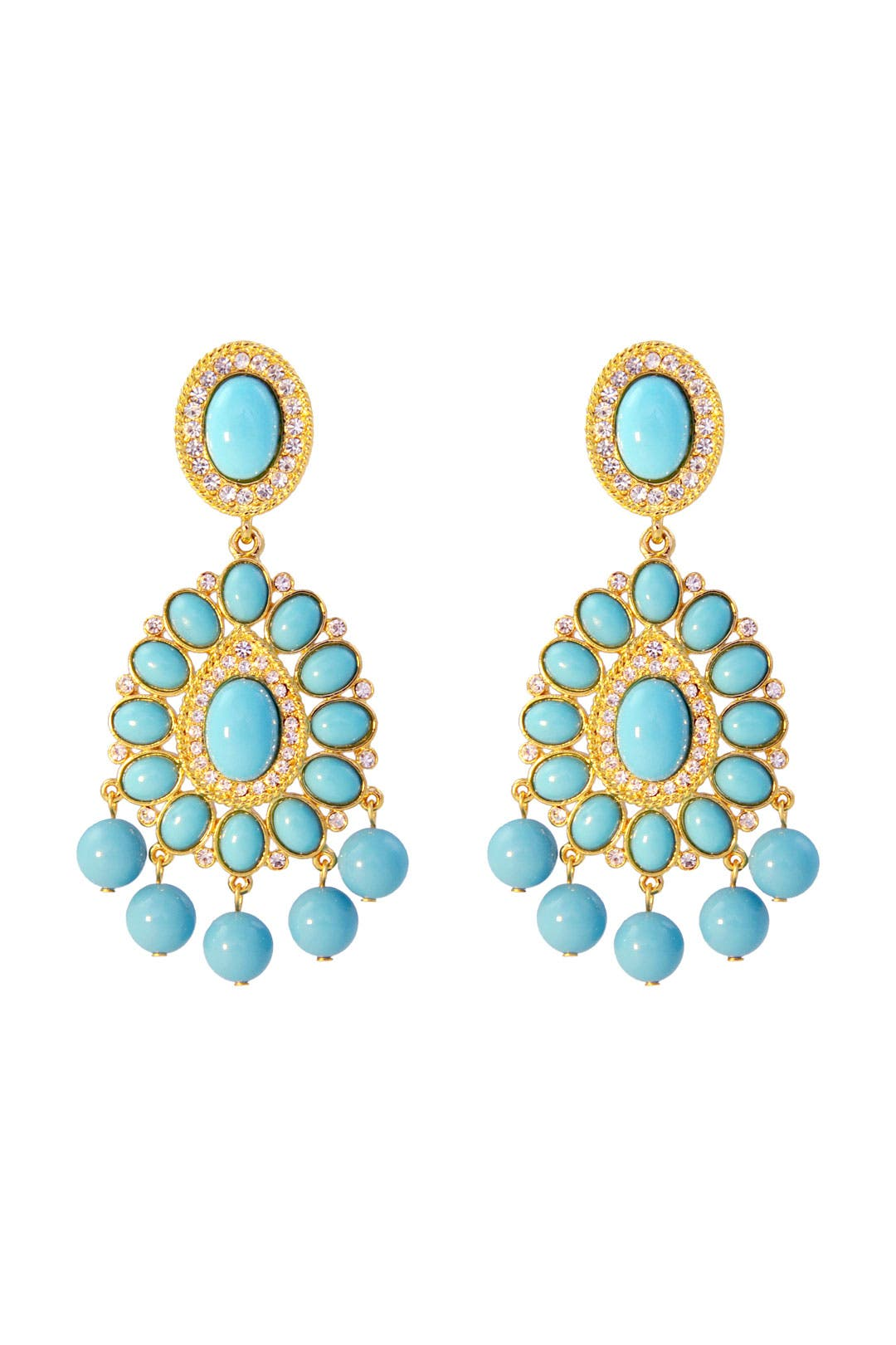 Mediterranean Royalty Earrings by Kenneth Jay Lane