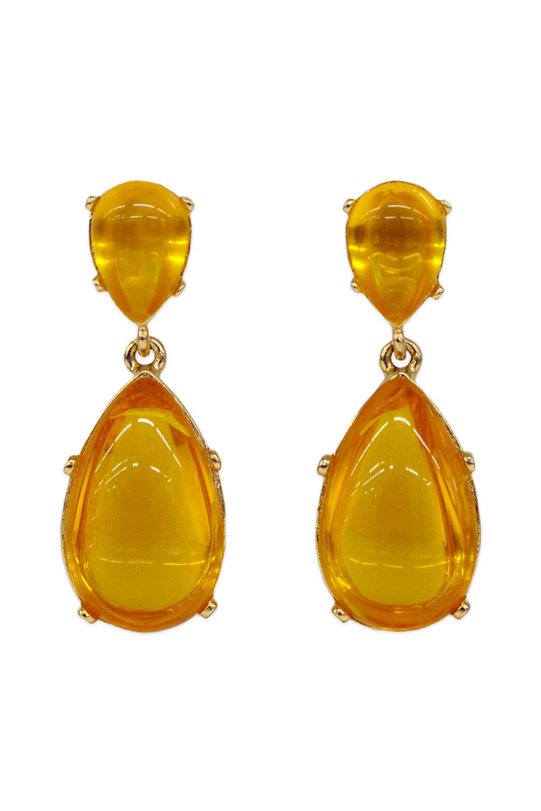 Opulent Amber Drop Earrings by Kenneth Jay Lane