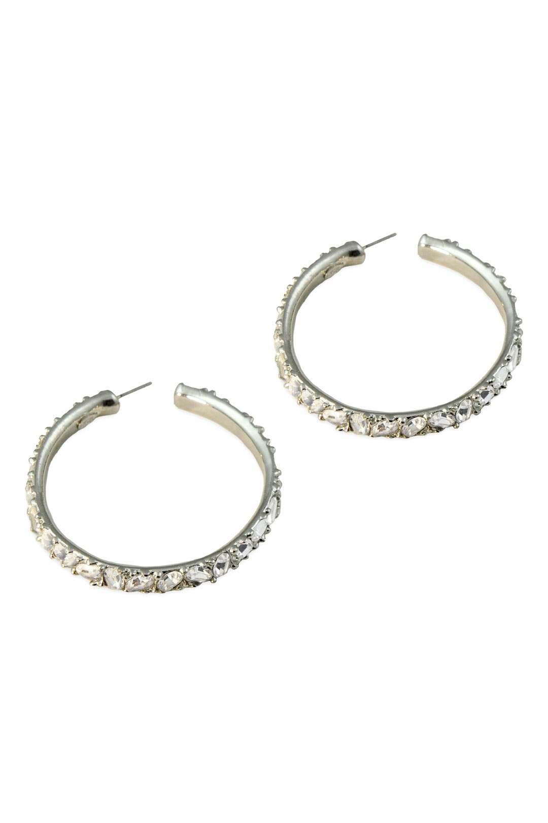 Pave Crystal Hoop Earrings by Kenneth Jay Lane