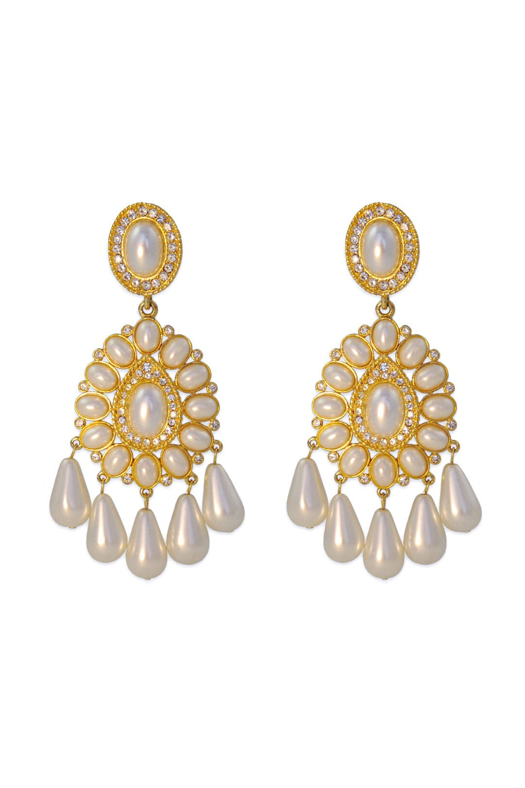 Taj Mahal Earrings by Kenneth Jay Lane