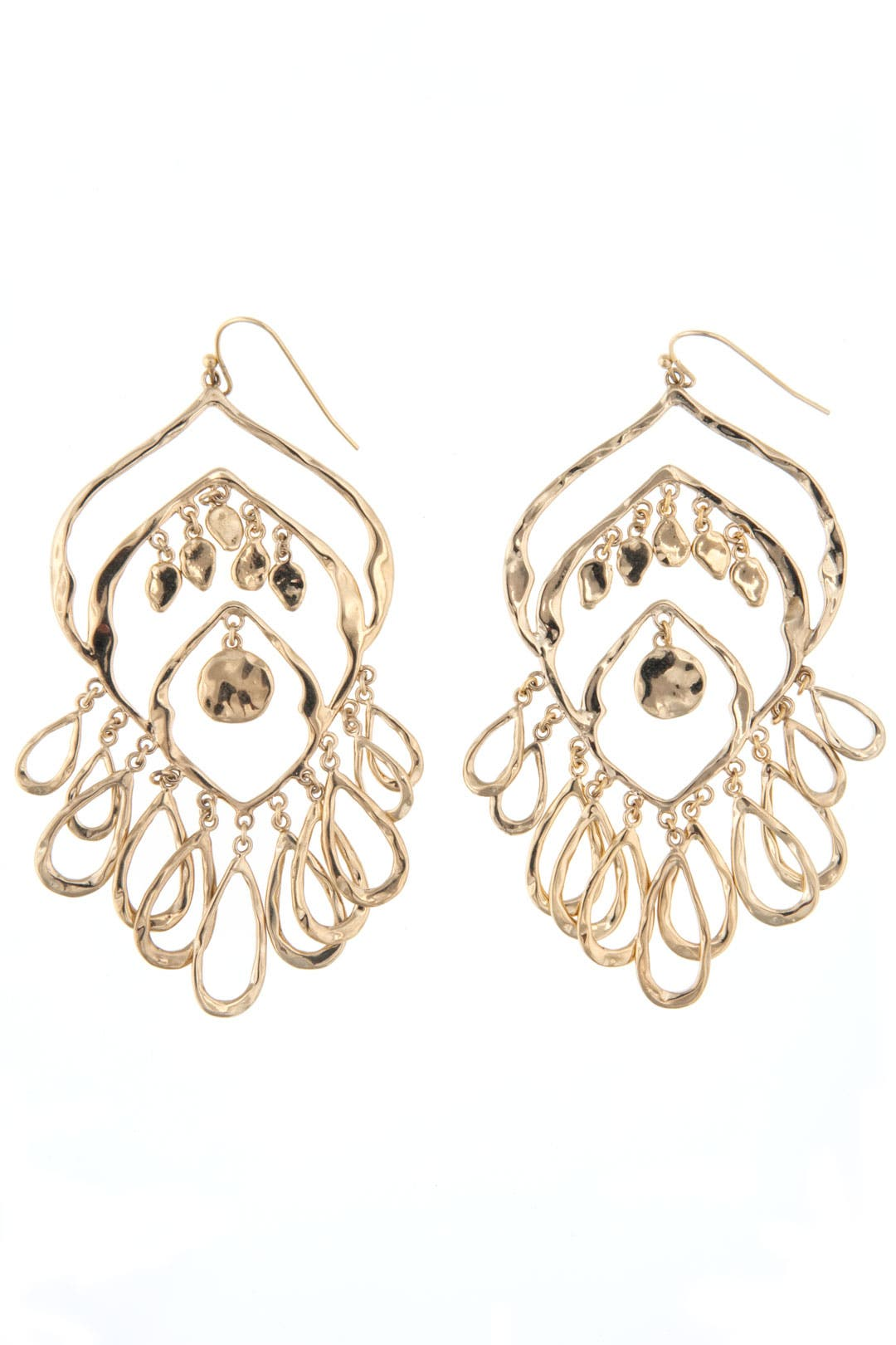 Solange Gold Chandelier Earrings by Lee Angel