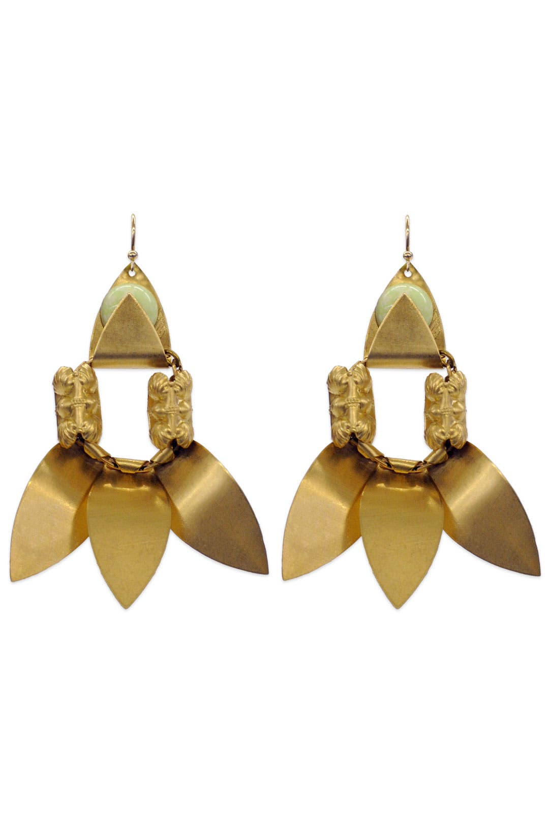 Lemon Lotus Earrings by Lulu Frost
