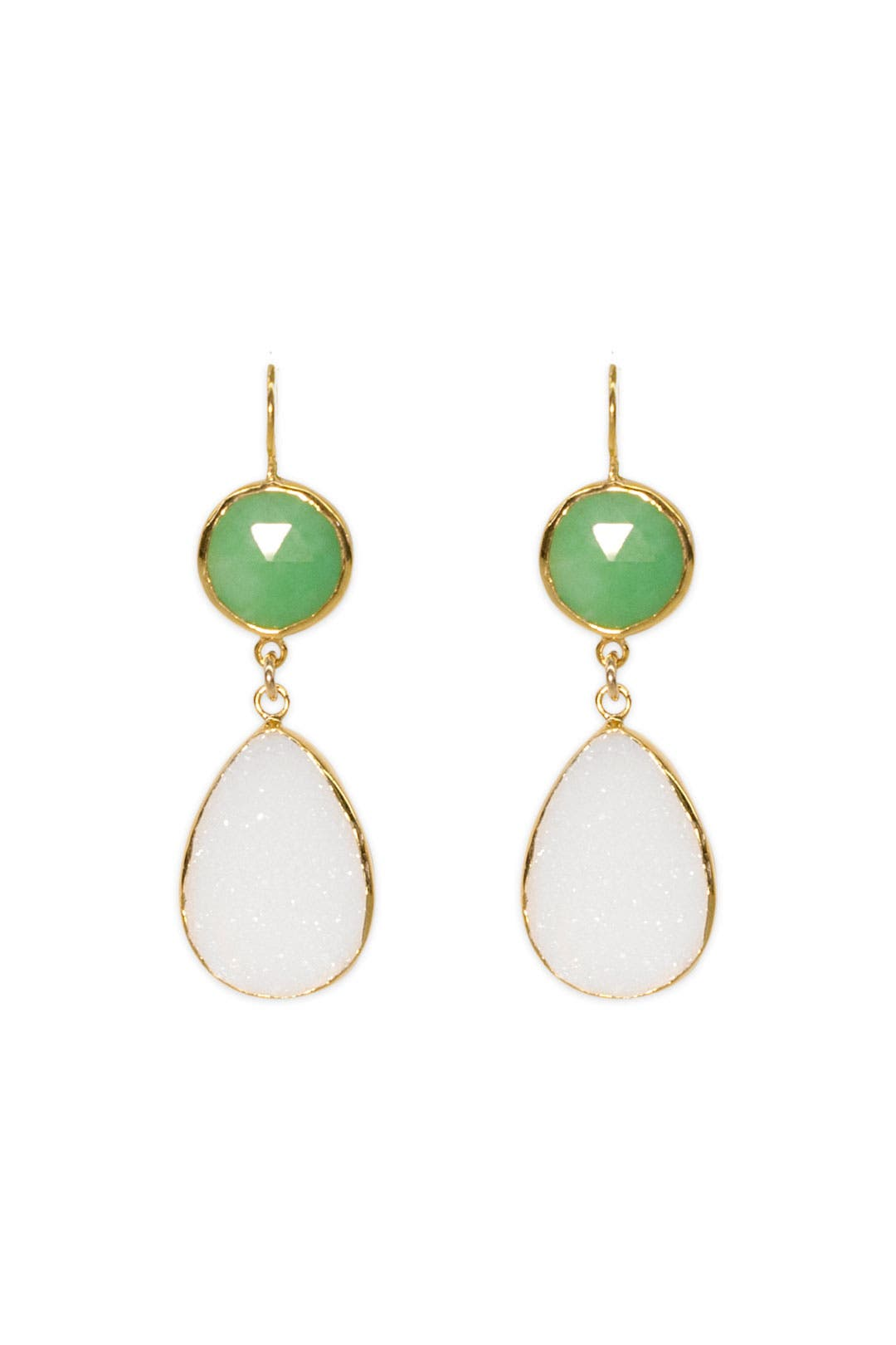 Green Druzy Dream Earrings by Margaret Elizabeth