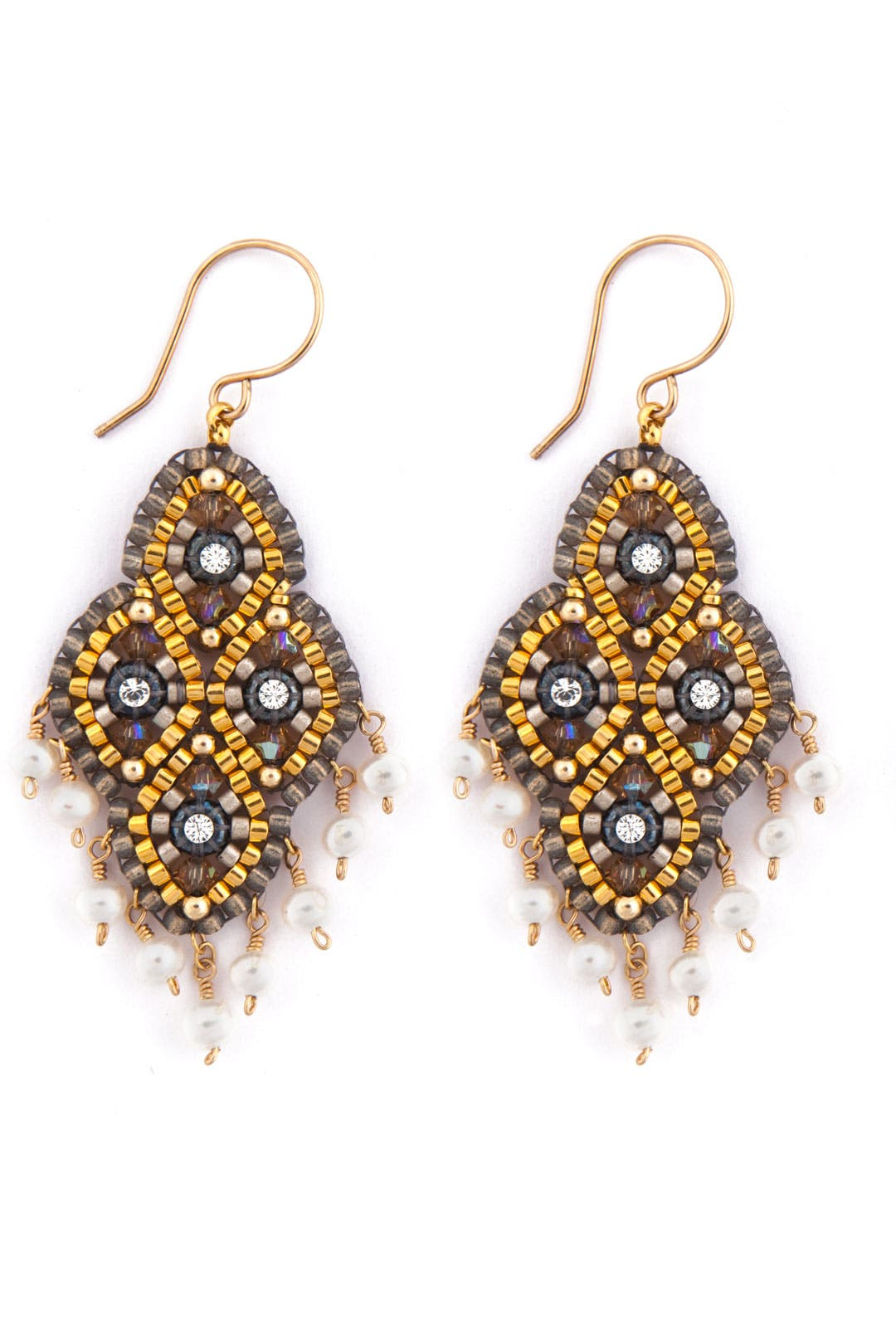 Gypsy Pearl Earrings by Miguel Ases