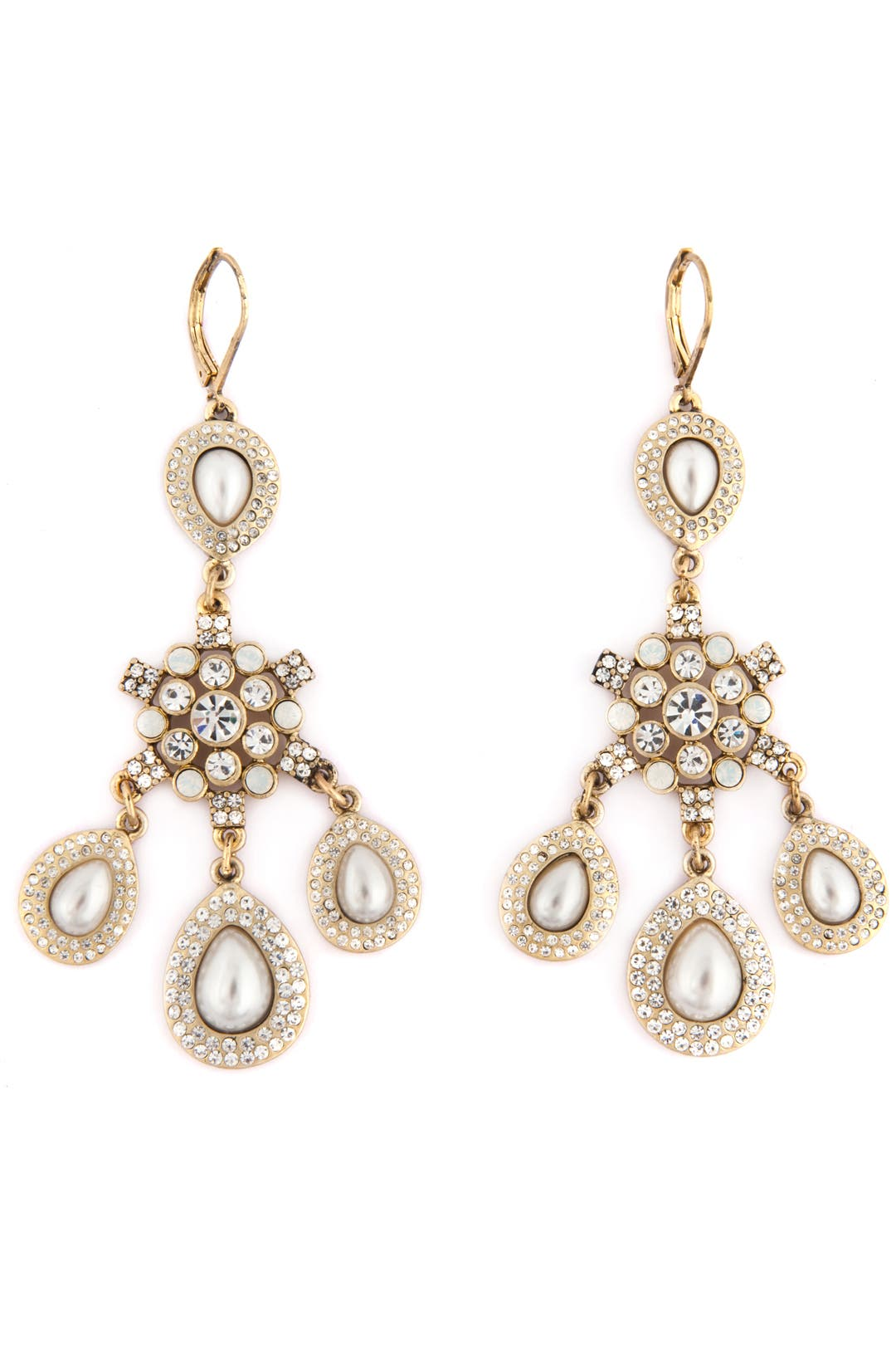 Ice and Pearl Crystal Earrings by Nicole Miller Accessories