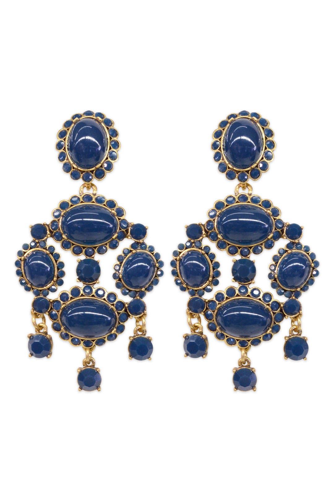 Deep Sea Ornate Earrings by Oscar de la Renta