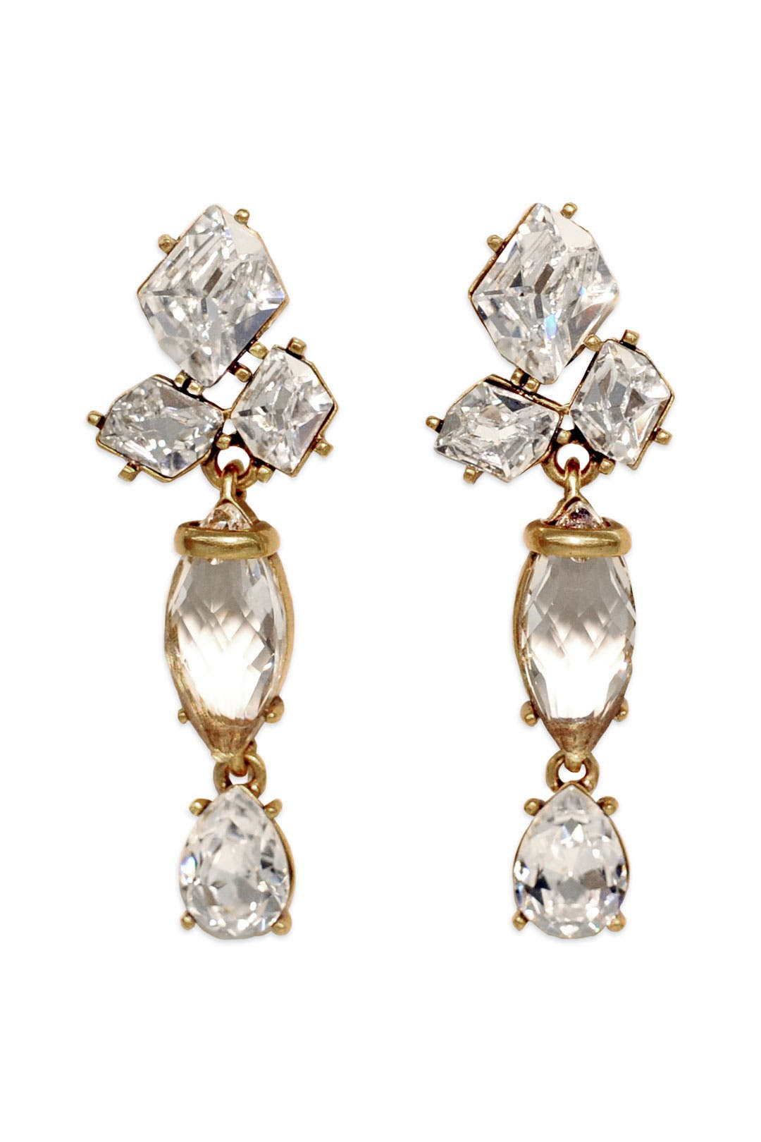 Halcyon Cluster Earrings by Oscar de la Renta
