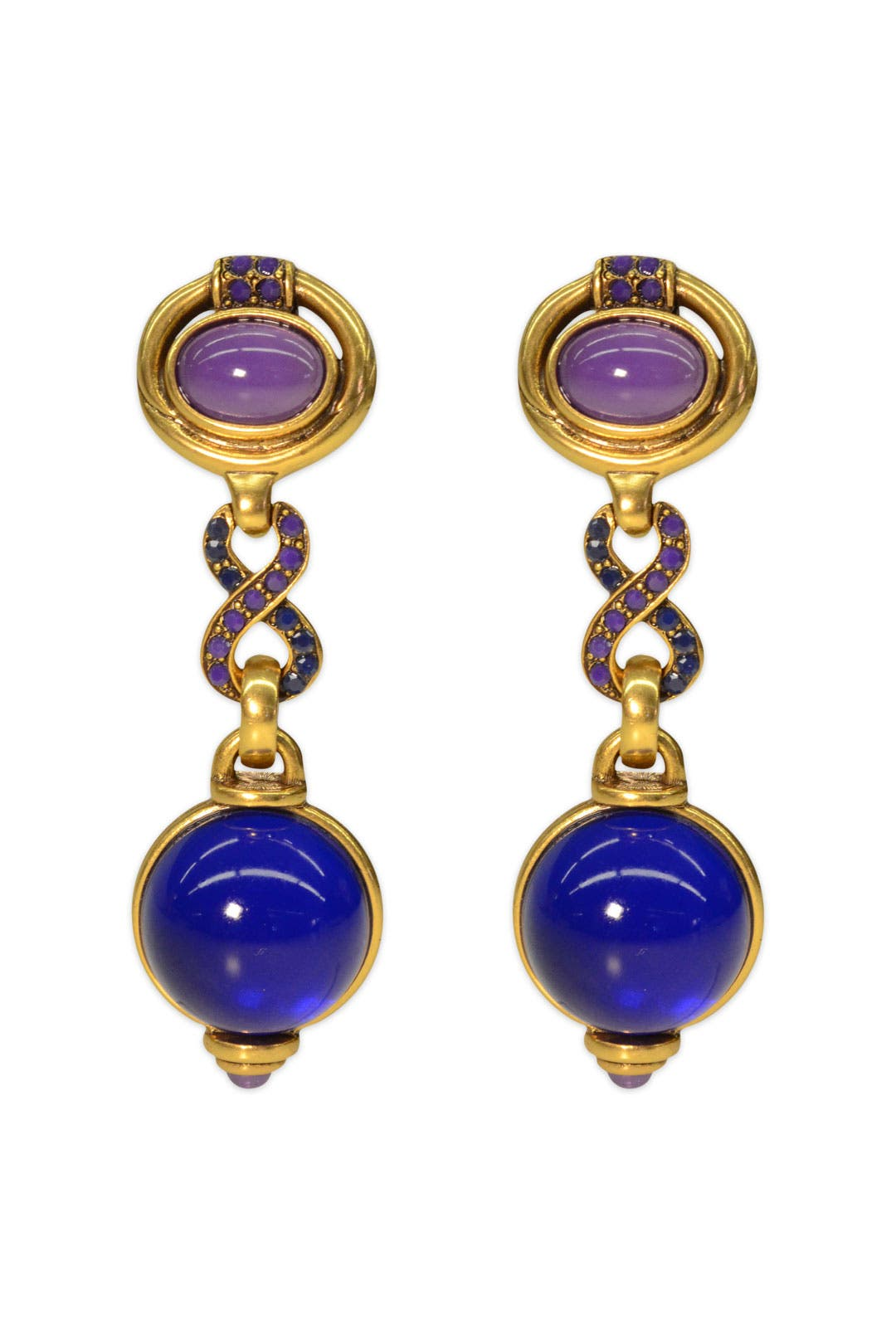 Globetrotter Earrings by Oscar de la Renta