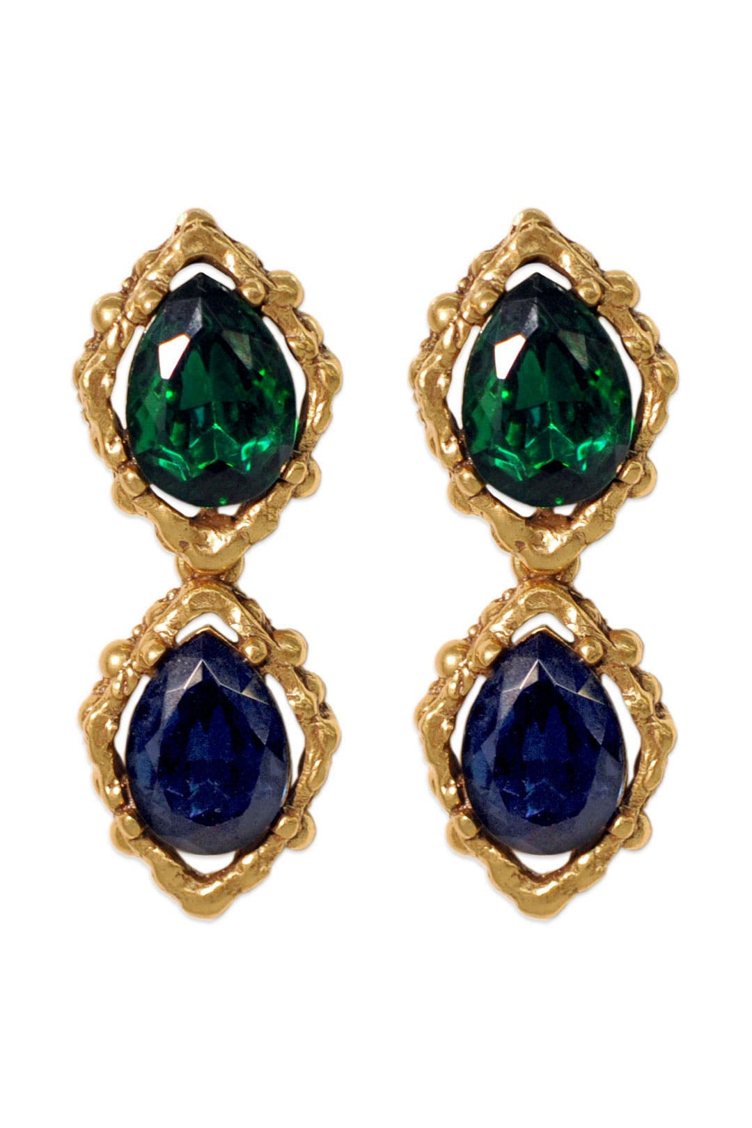 Ocean Jewel Tone Earrings by Oscar de la Renta