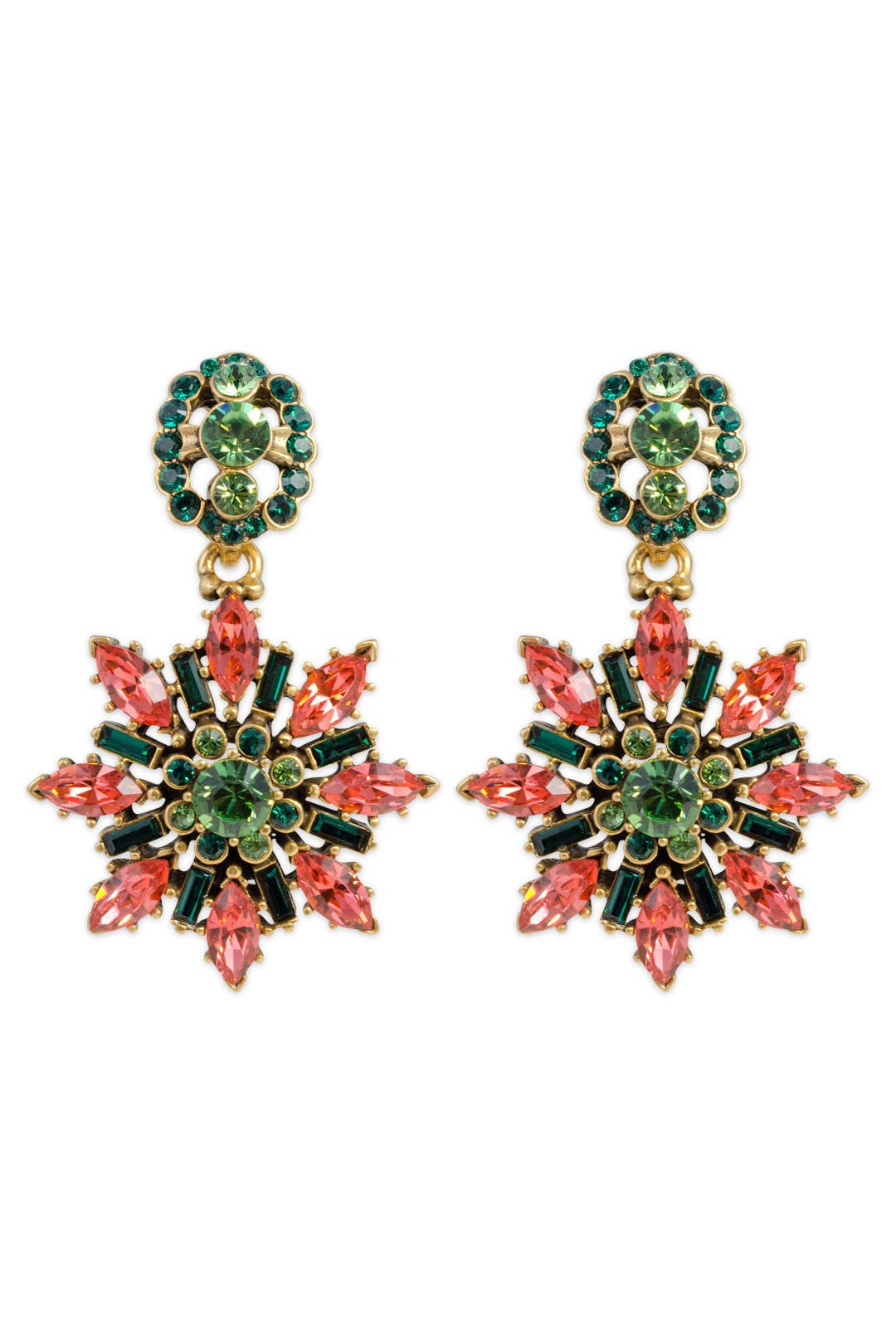 Prismatic Etoile Earrings by Oscar de la Renta