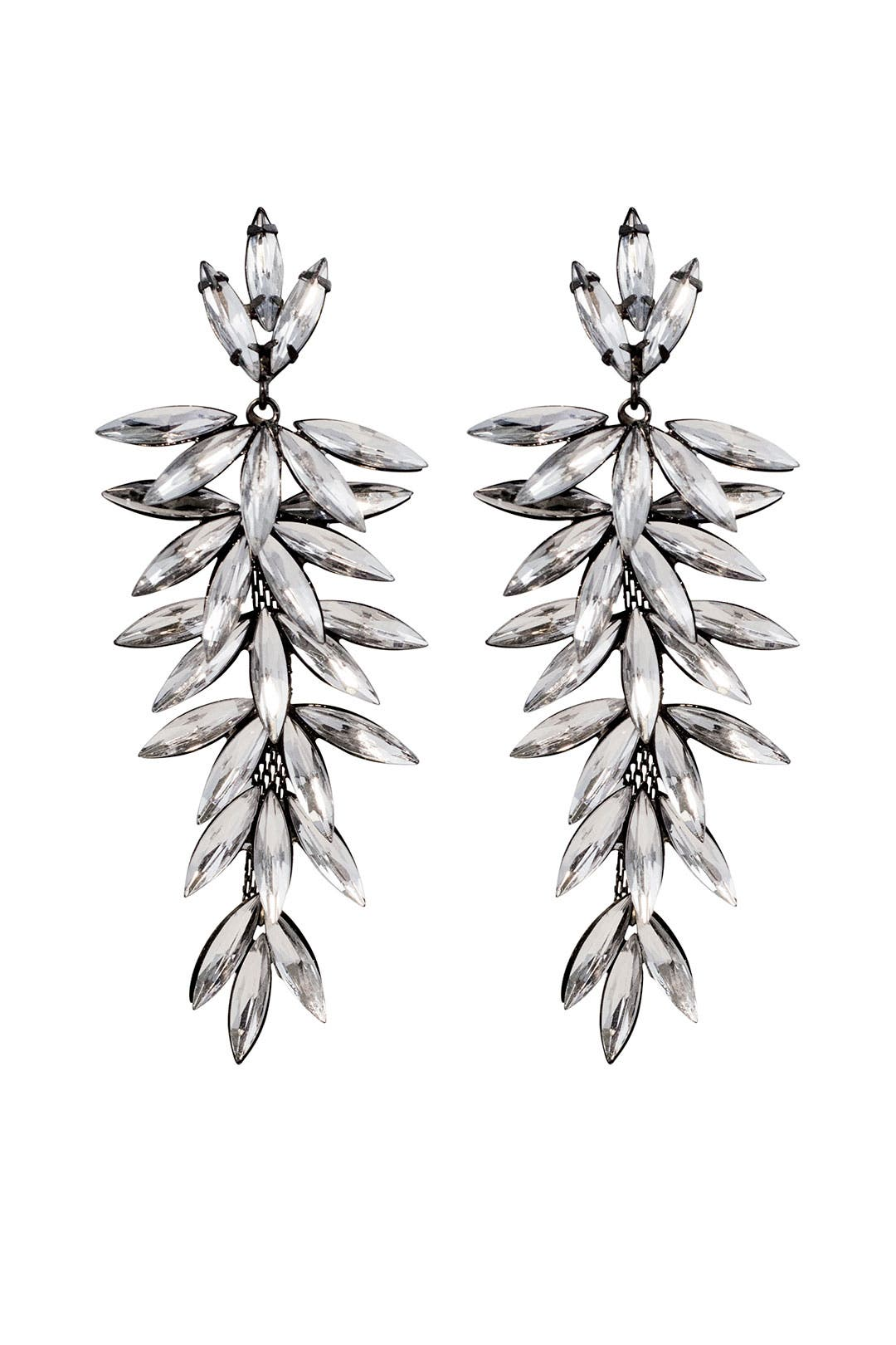 Crystal Thorn Drop Earrings by RJ Graziano