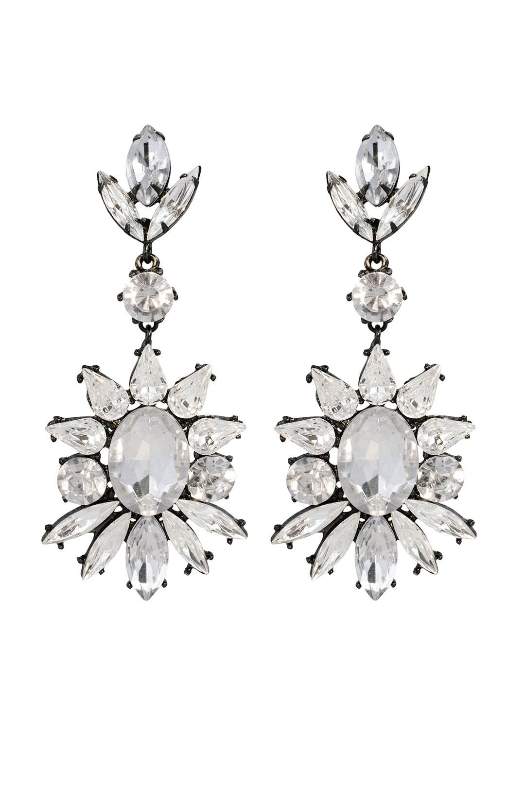 Gunmetal and Roses Earrings by RJ Graziano