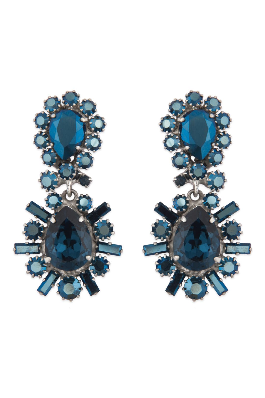 Sapphire Crystal Stunner Earrings by Rodrigo Otazu