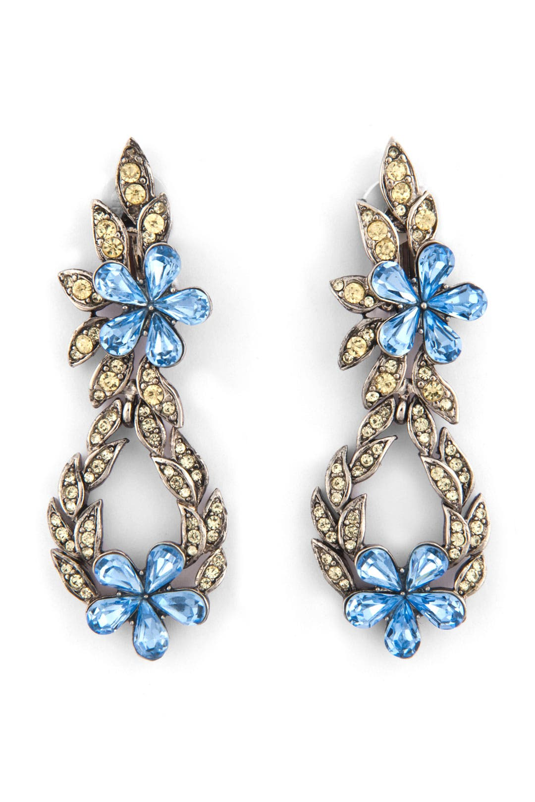 Doorknocker Crystal Earrings by Trudelle Laker