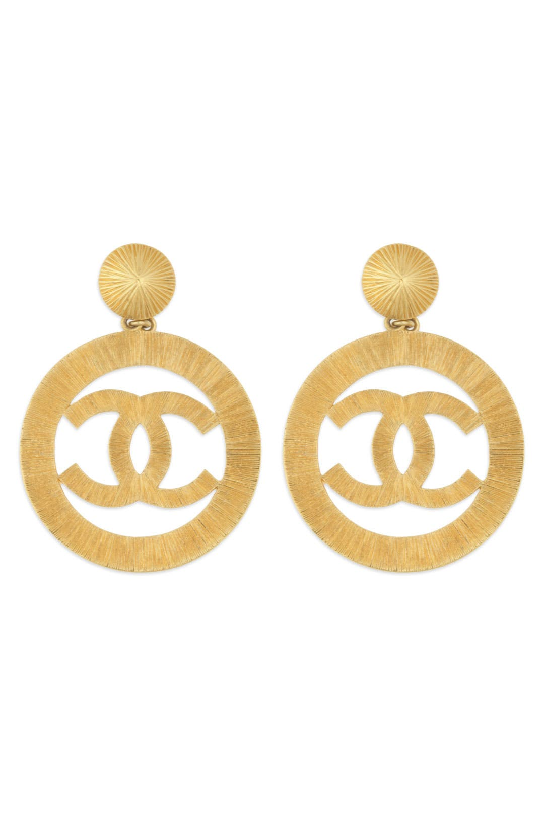 Vintage Chanel CC Cambon Earrings by WGACA Vintage