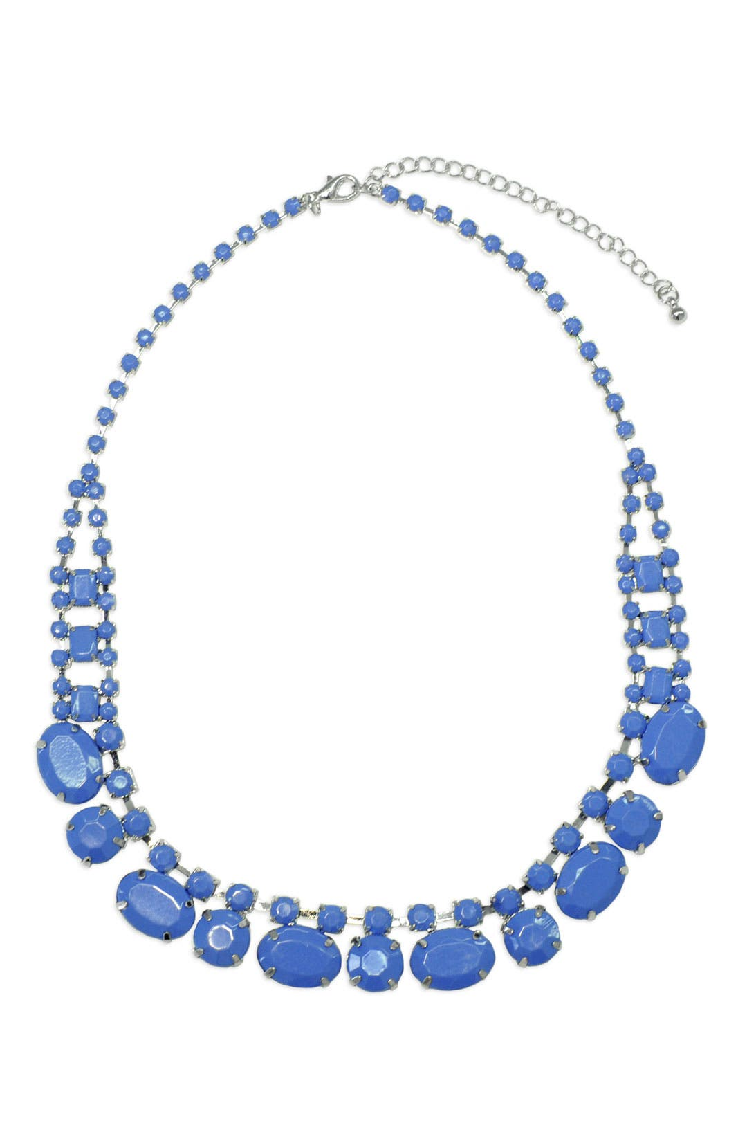 Blue Stone Blaze Necklace by Adia Kibur