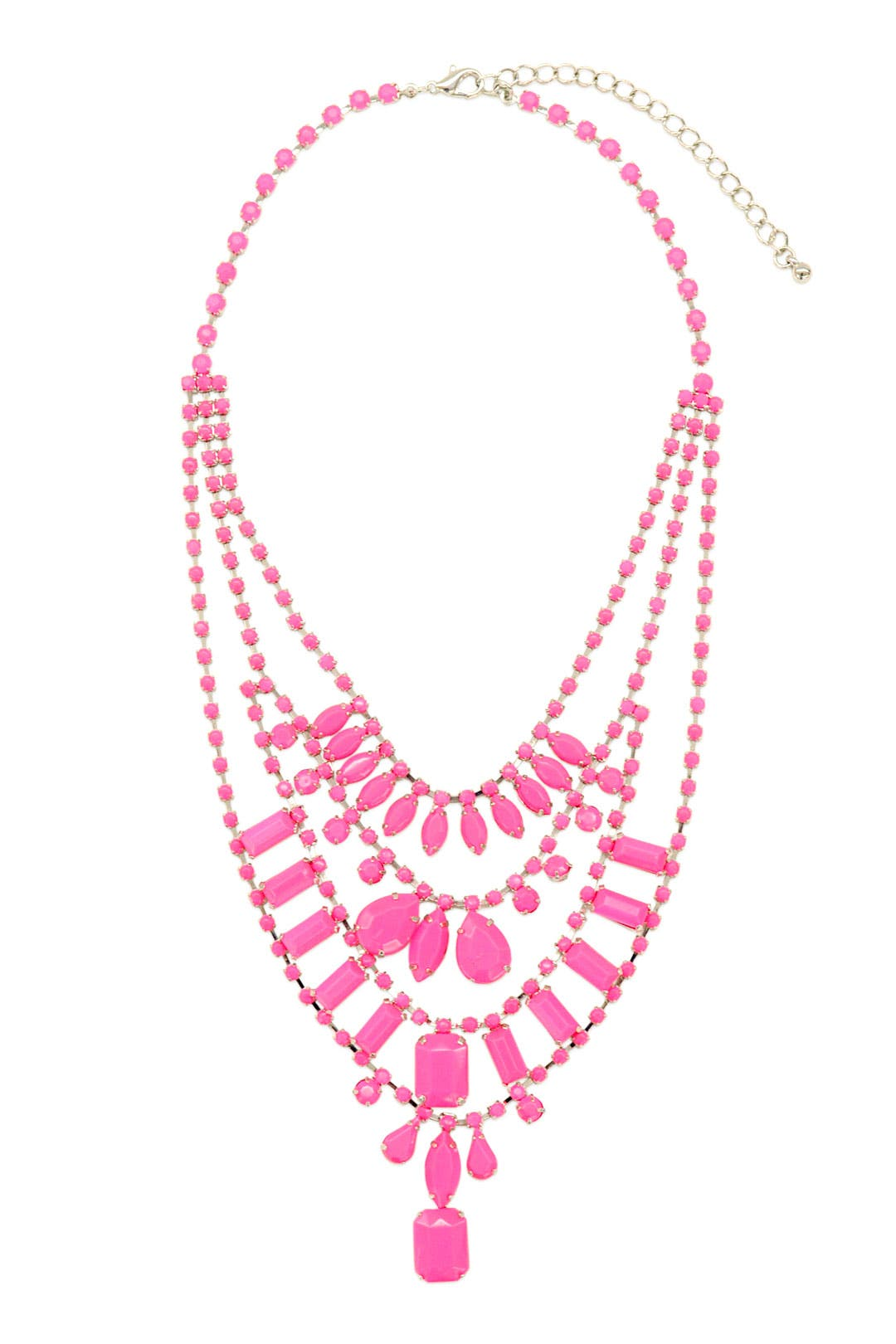 Neon Pink Lights Necklace by Adia Kibur